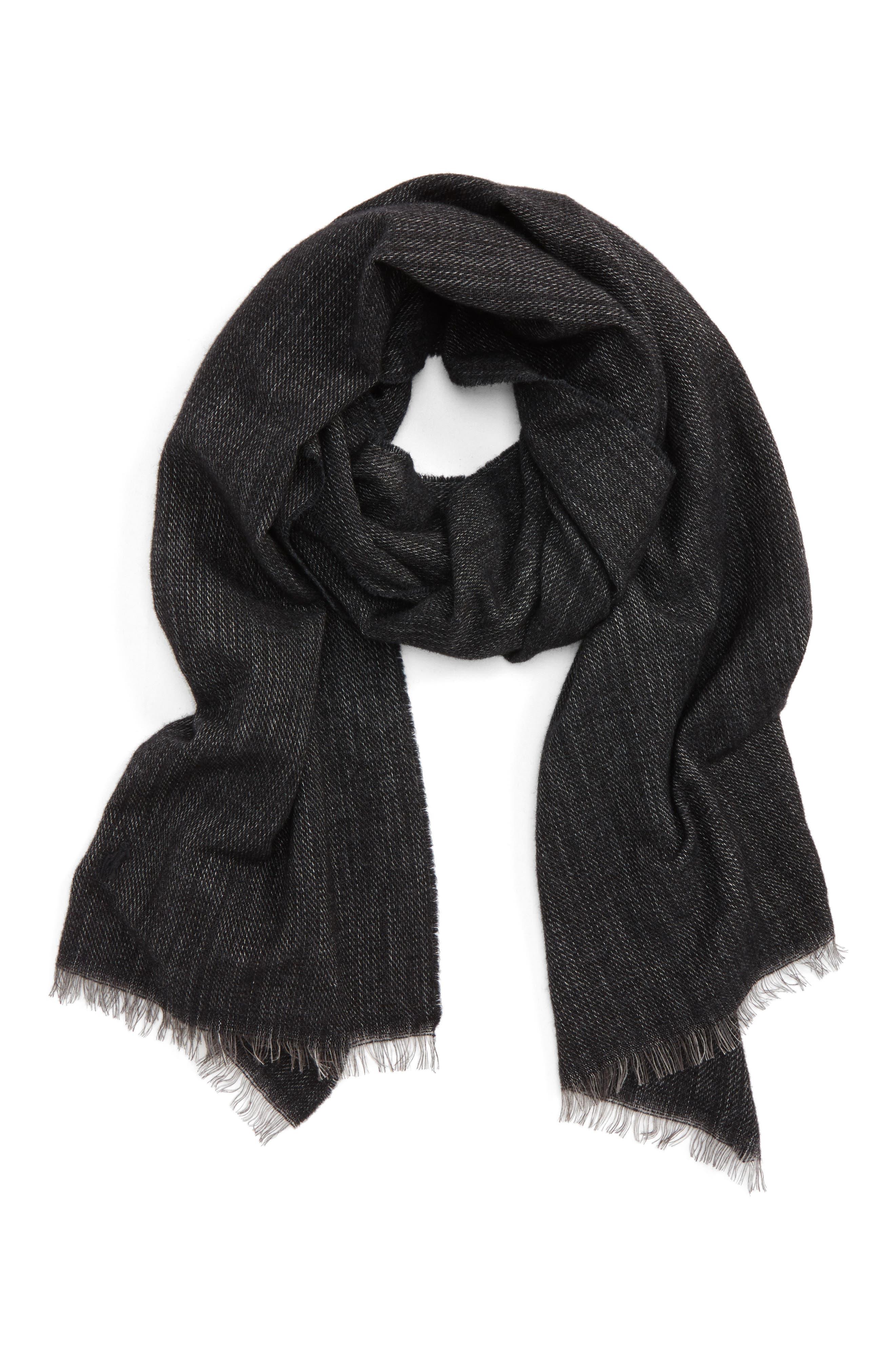 Délavé Lightweight Wool Blend Scarf,                             Main thumbnail 1, color,