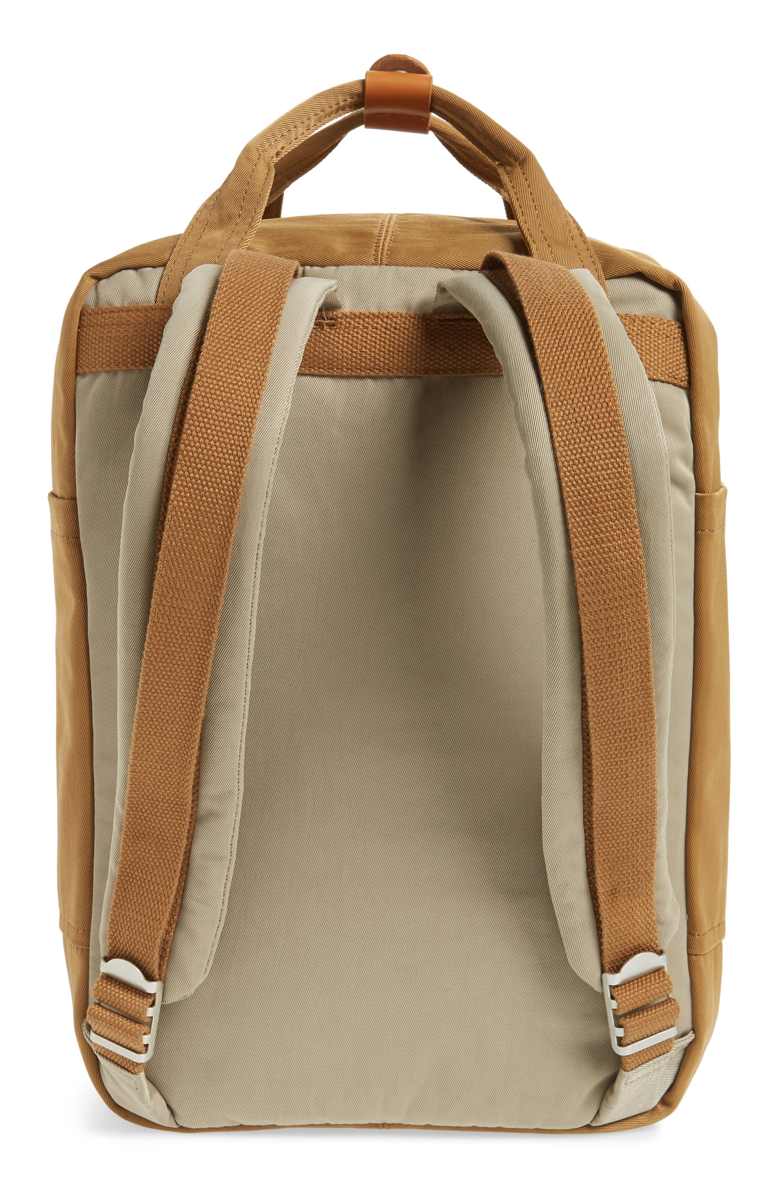 Macaroon Colorblock Backpack,                             Alternate thumbnail 3, color,                             BEIGE/ KHAKI