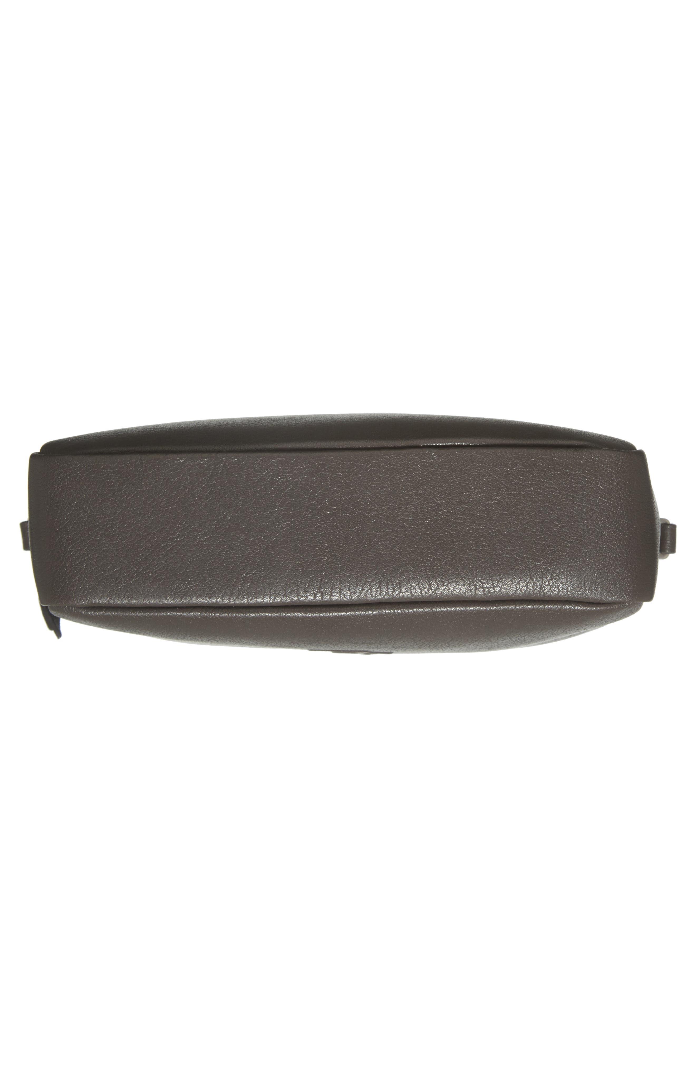Small Mono Leather Camera Bag,                             Alternate thumbnail 6, color,                             ASPHALT