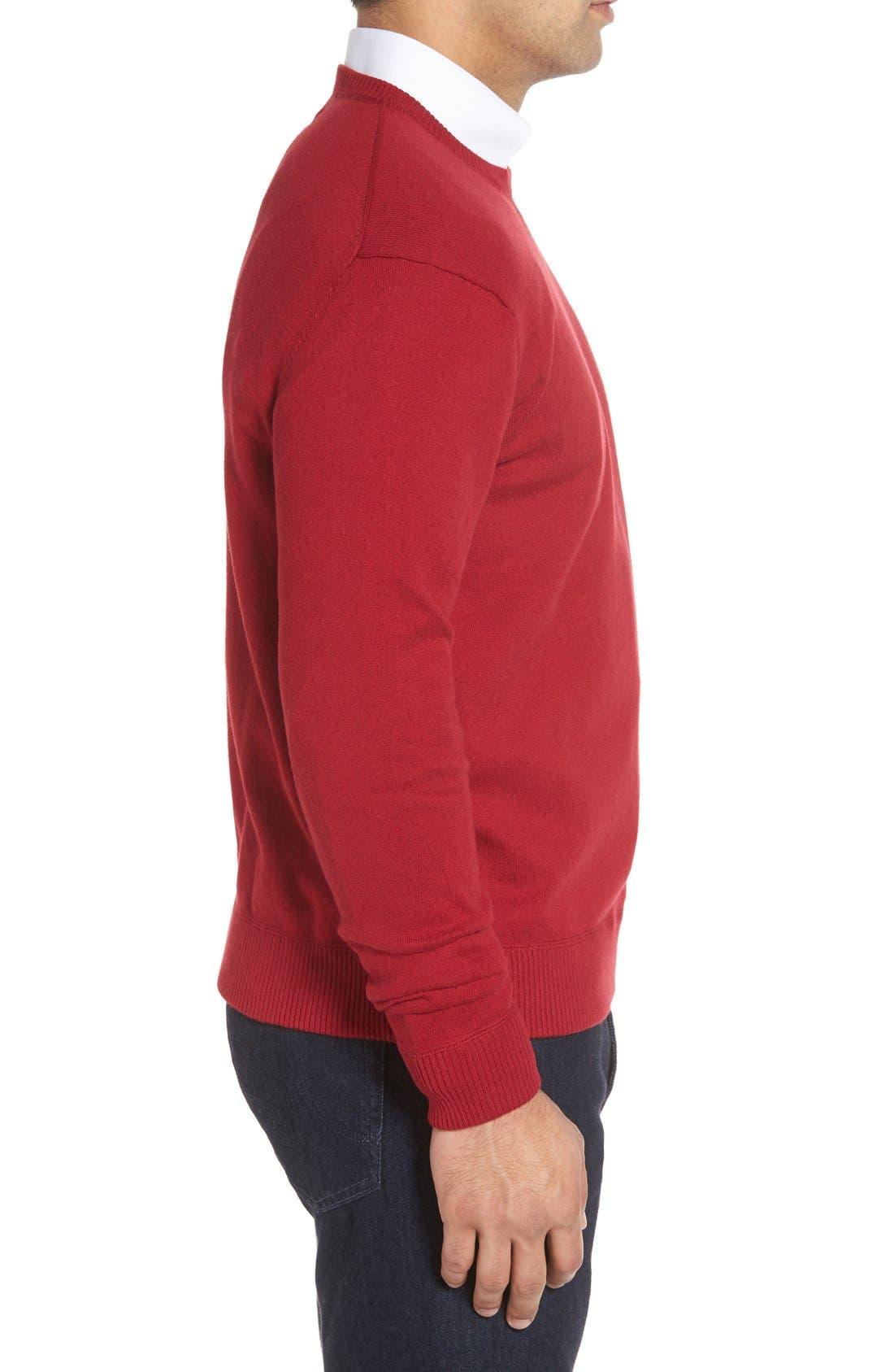'Jersey Sport' Cotton Blend Crewneck Sweater,                             Alternate thumbnail 24, color,