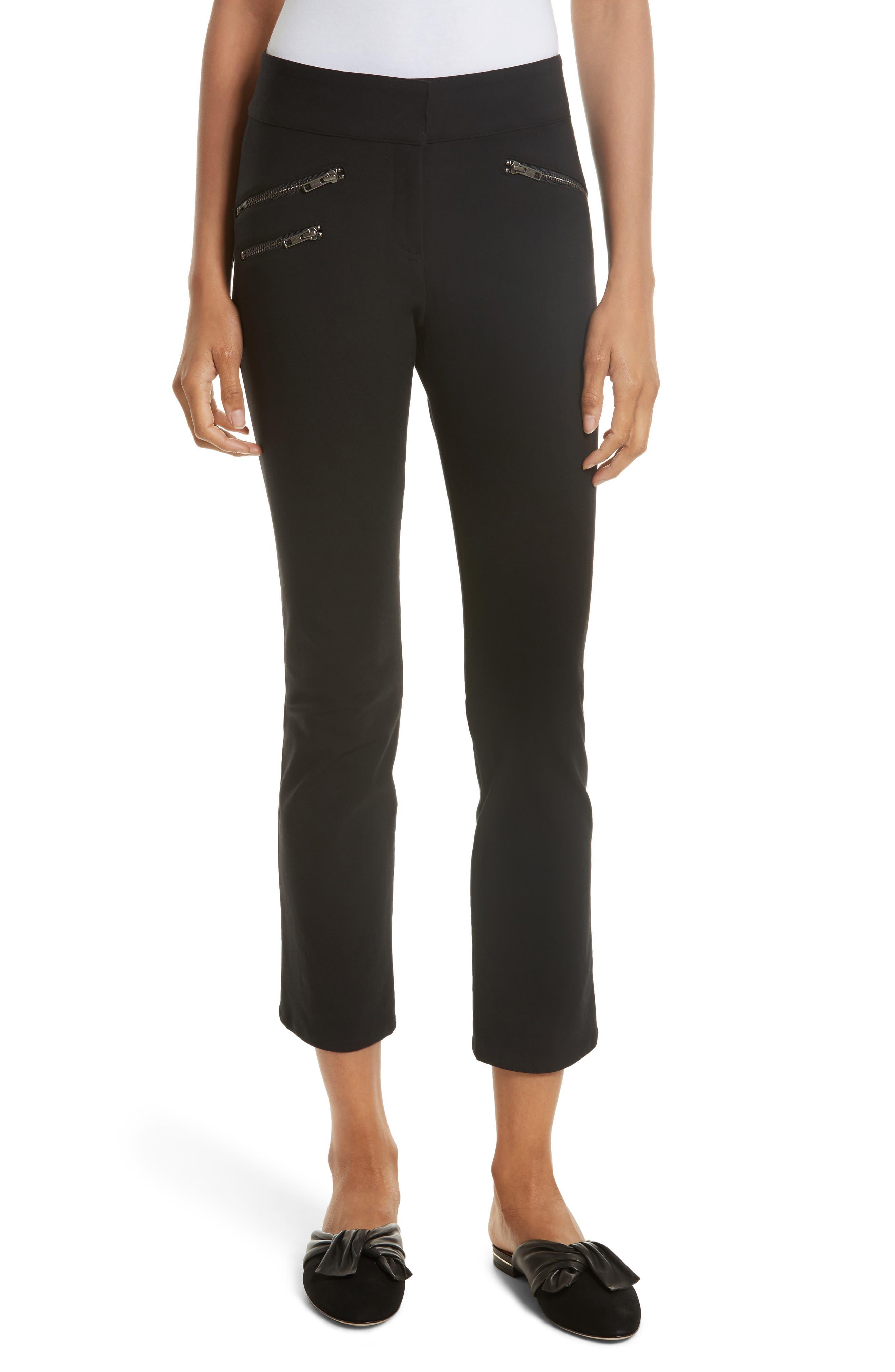 Adelaide Zipper Detail Crop Pants,                         Main,                         color, 001