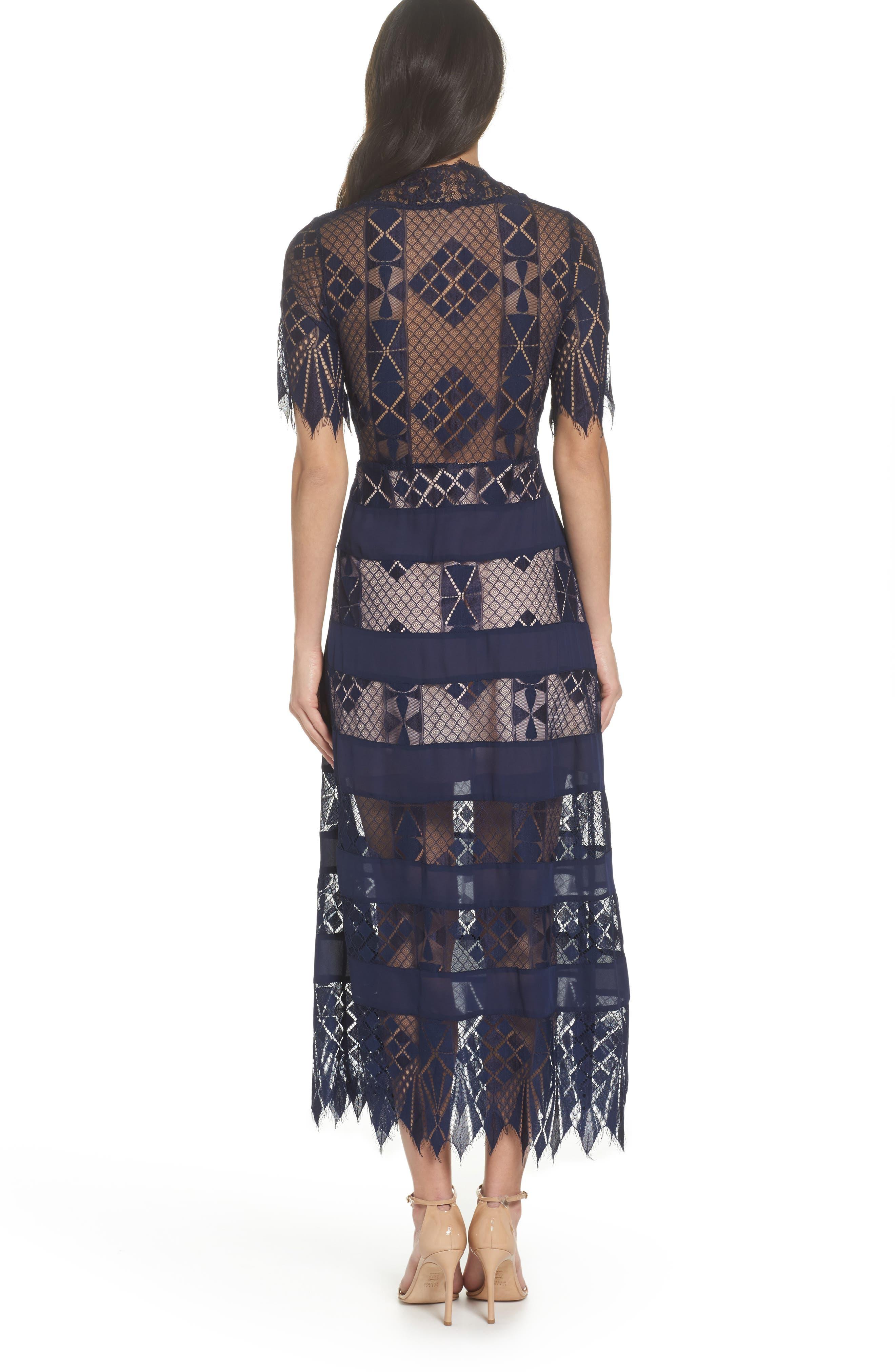 Bravo Zulu Lacy Paneled Dress,                             Alternate thumbnail 2, color,                             414