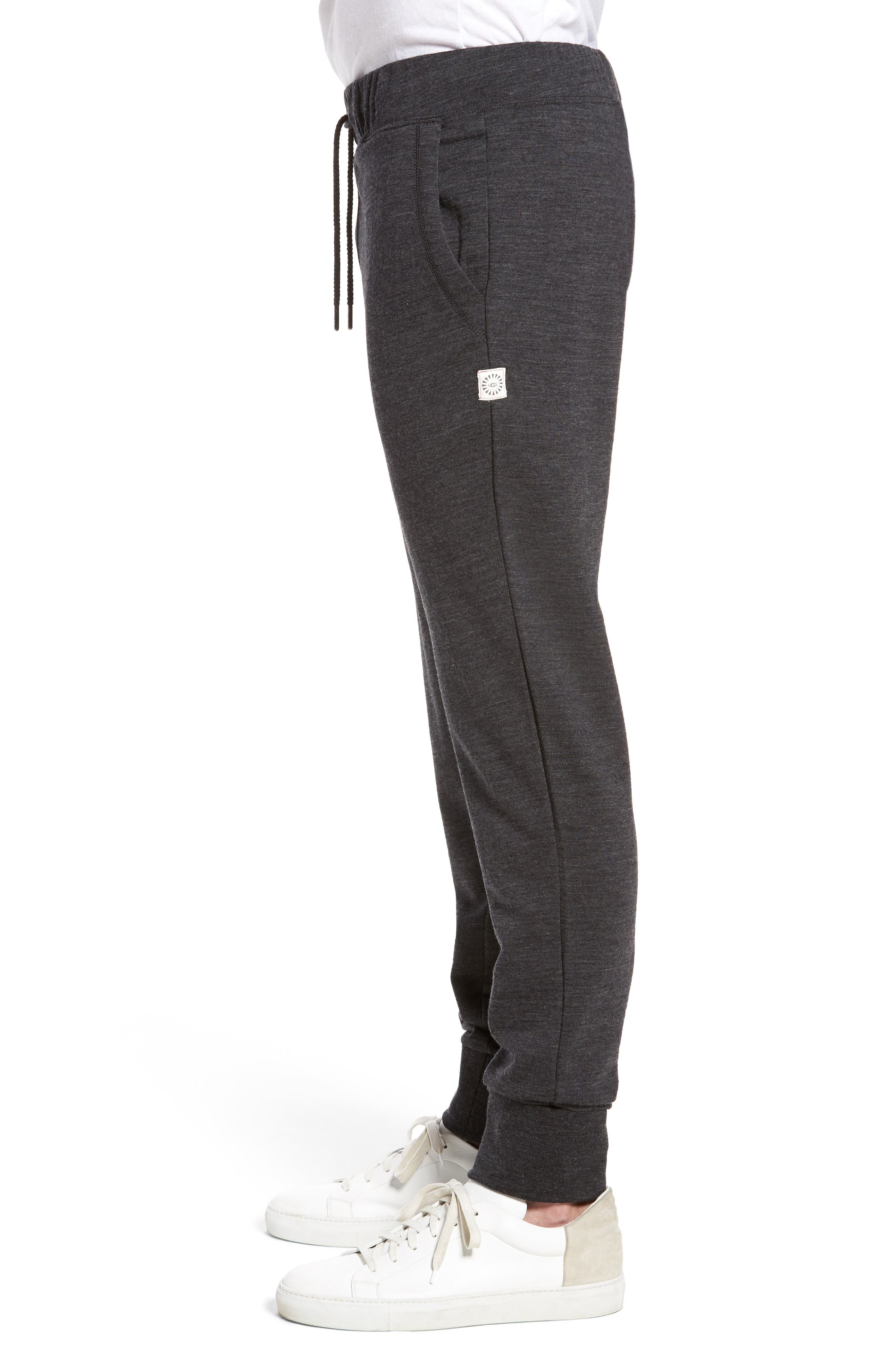 Merino Wool Fleece Jogger Pants,                             Alternate thumbnail 3, color,