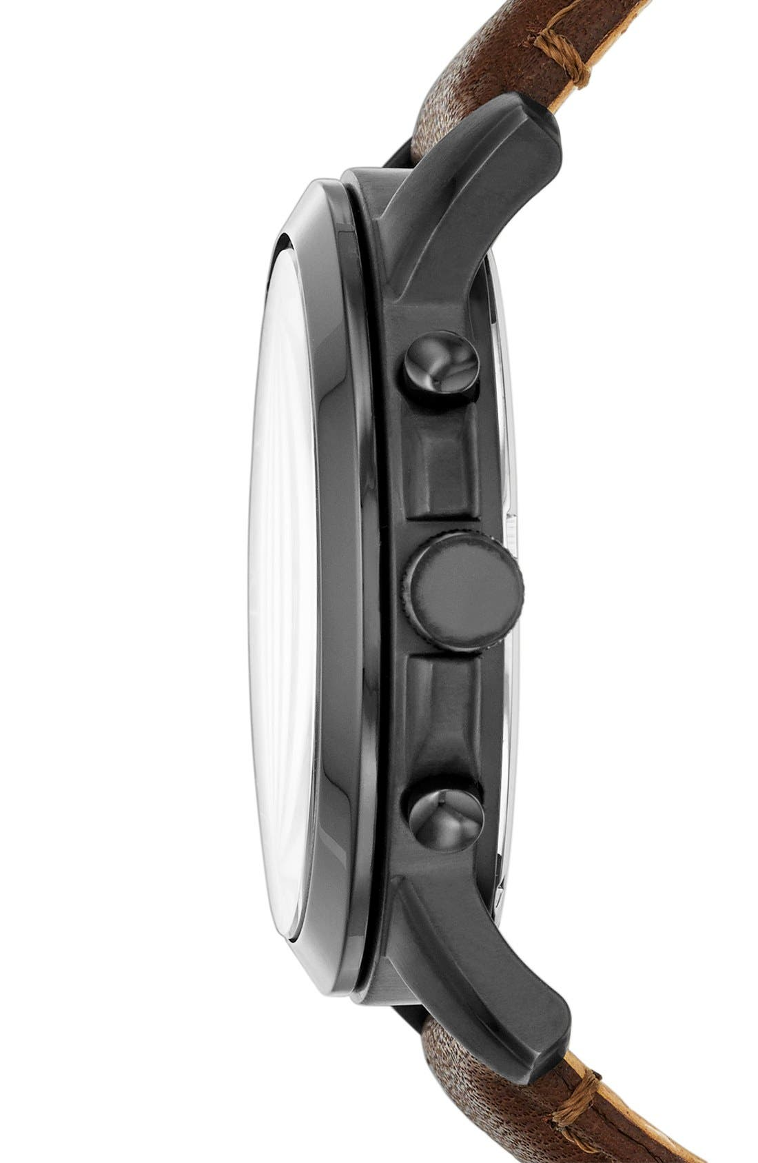 'Grant' Round Chronograph Leather Strap Watch, 44mm,                             Alternate thumbnail 70, color,