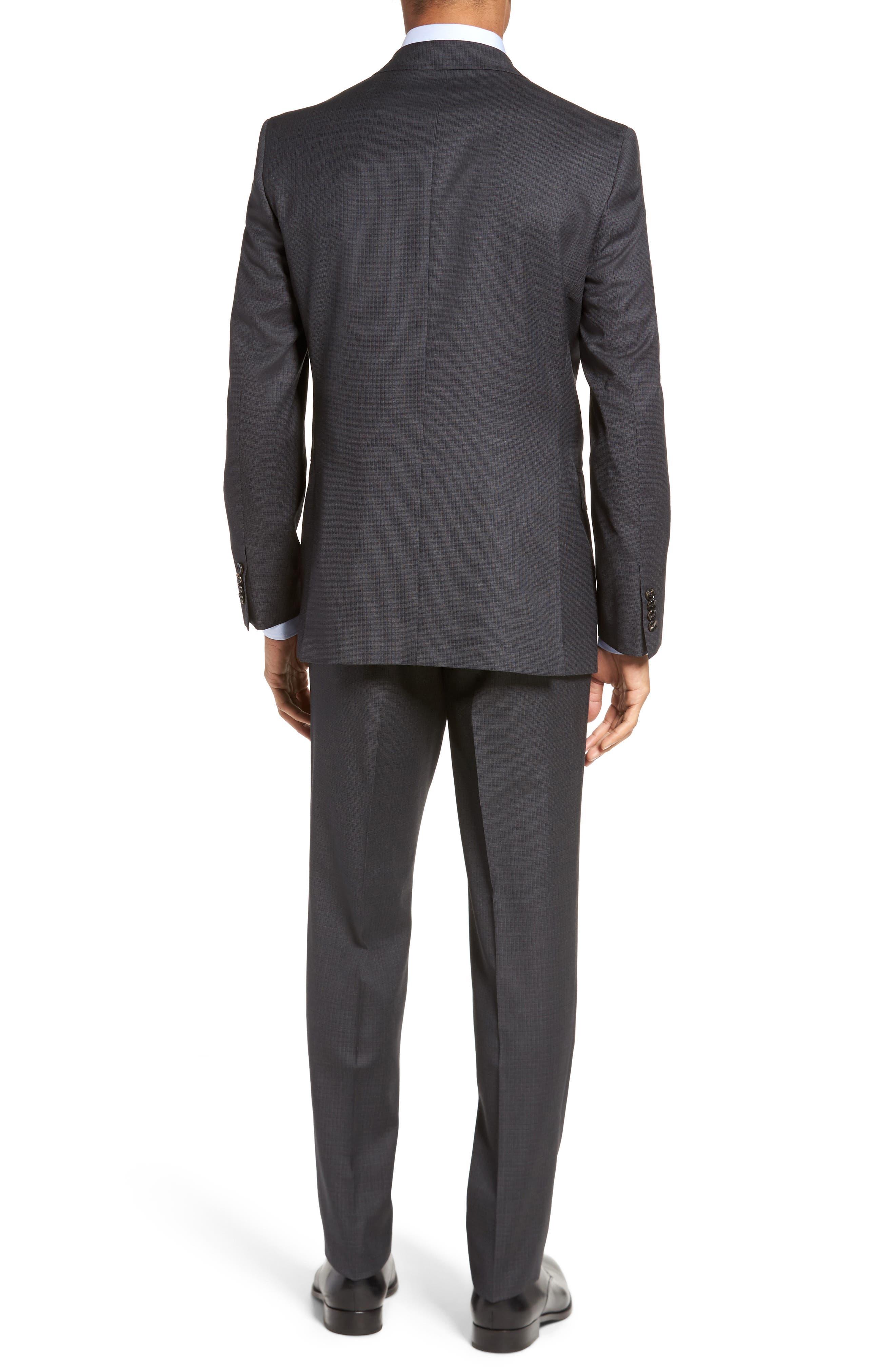 Jay Trim Fit Check Wool Suit,                             Alternate thumbnail 2, color,                             020