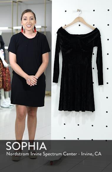 Off the Shoulder Velvet A-Line Dress, sales video thumbnail