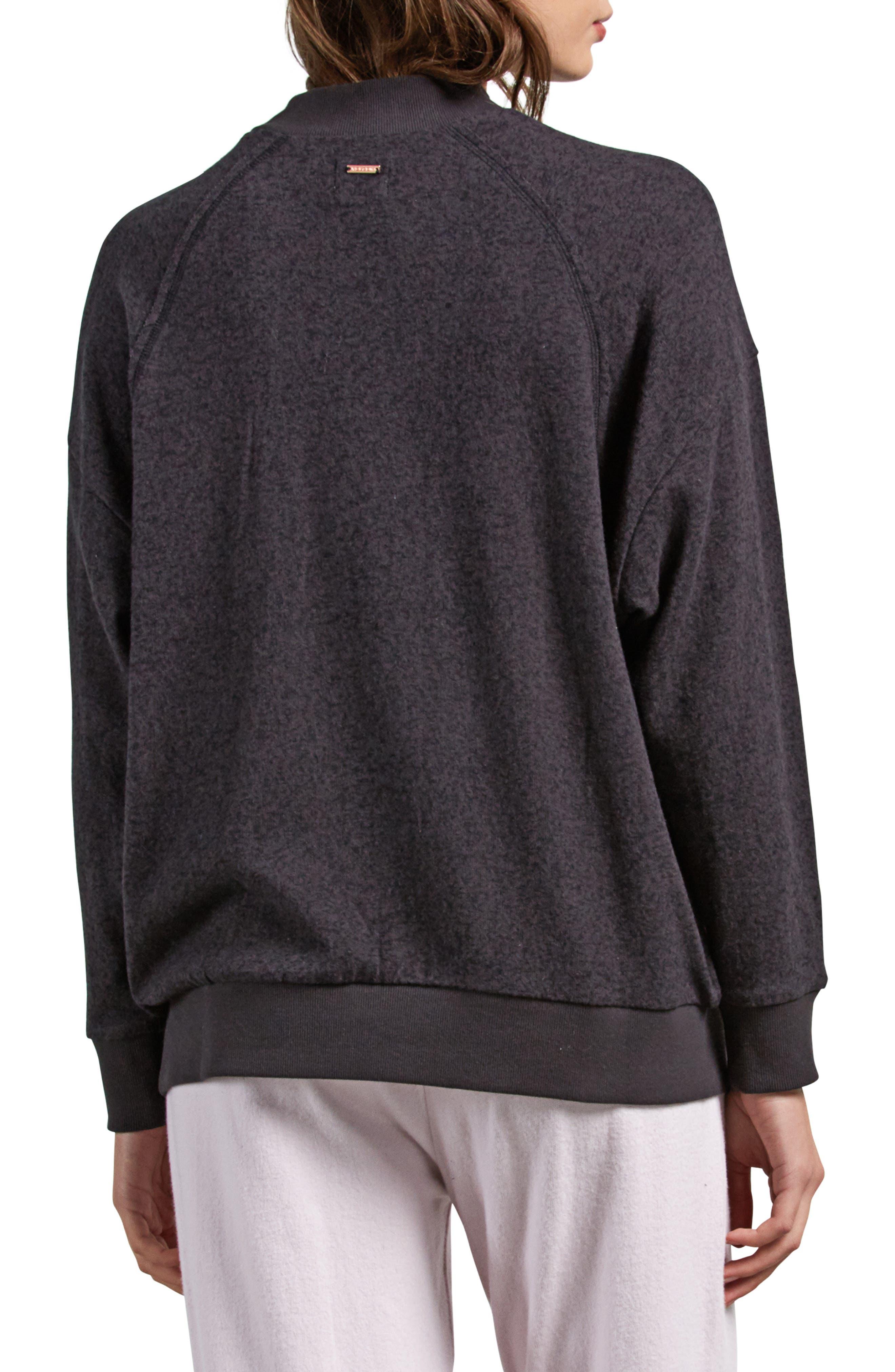 Lil Mock Neck Fleece Sweatshirt,                             Alternate thumbnail 2, color,                             VINTAGE BLACK