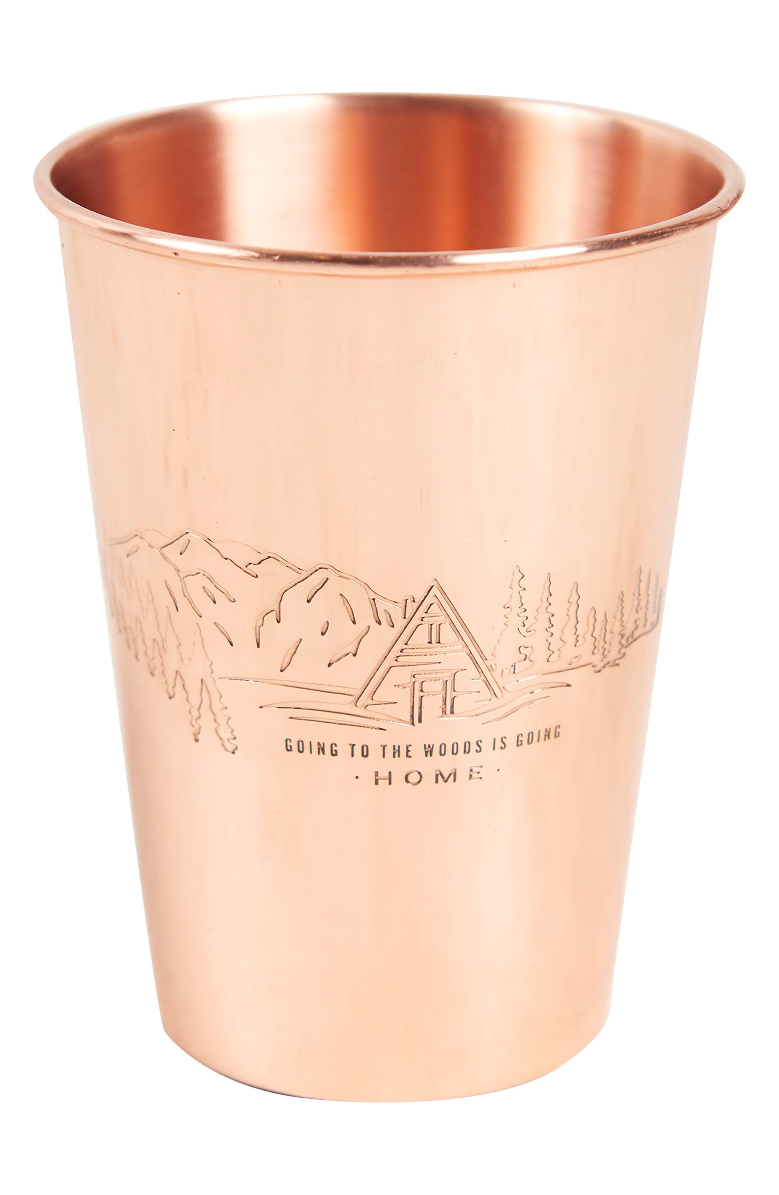 Engraved Copper Tumbler,                             Main thumbnail 1, color,                             TO THE WOODS