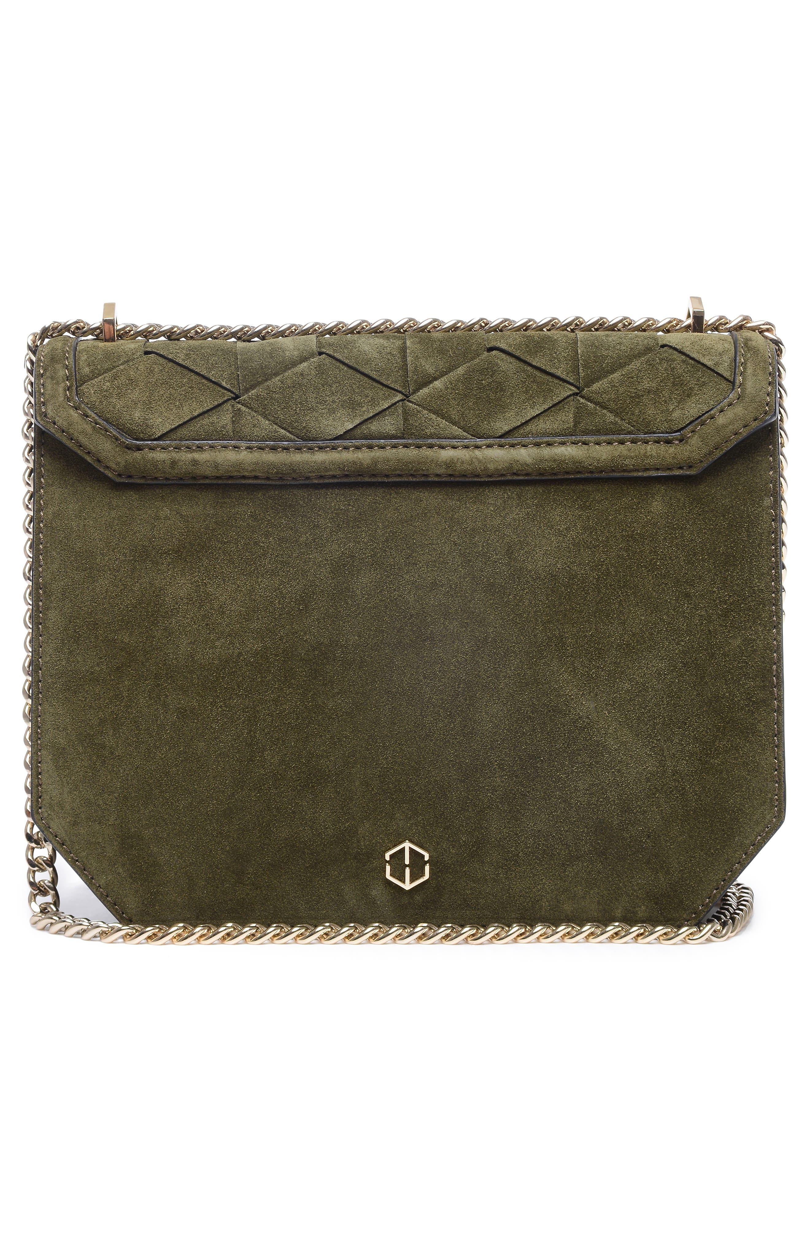 Supine Suede Shoulder Bag,                             Alternate thumbnail 3, color,                             300