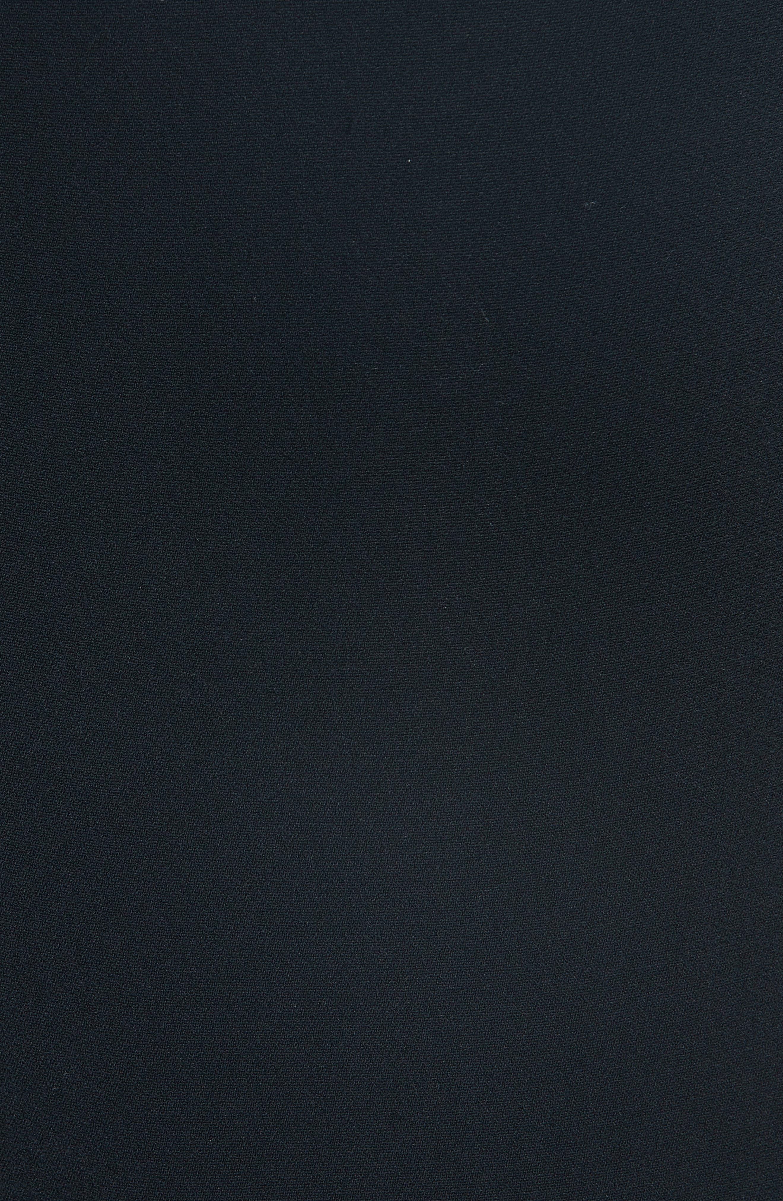 Grommet Trim Gown,                             Alternate thumbnail 5, color,                             BLACK