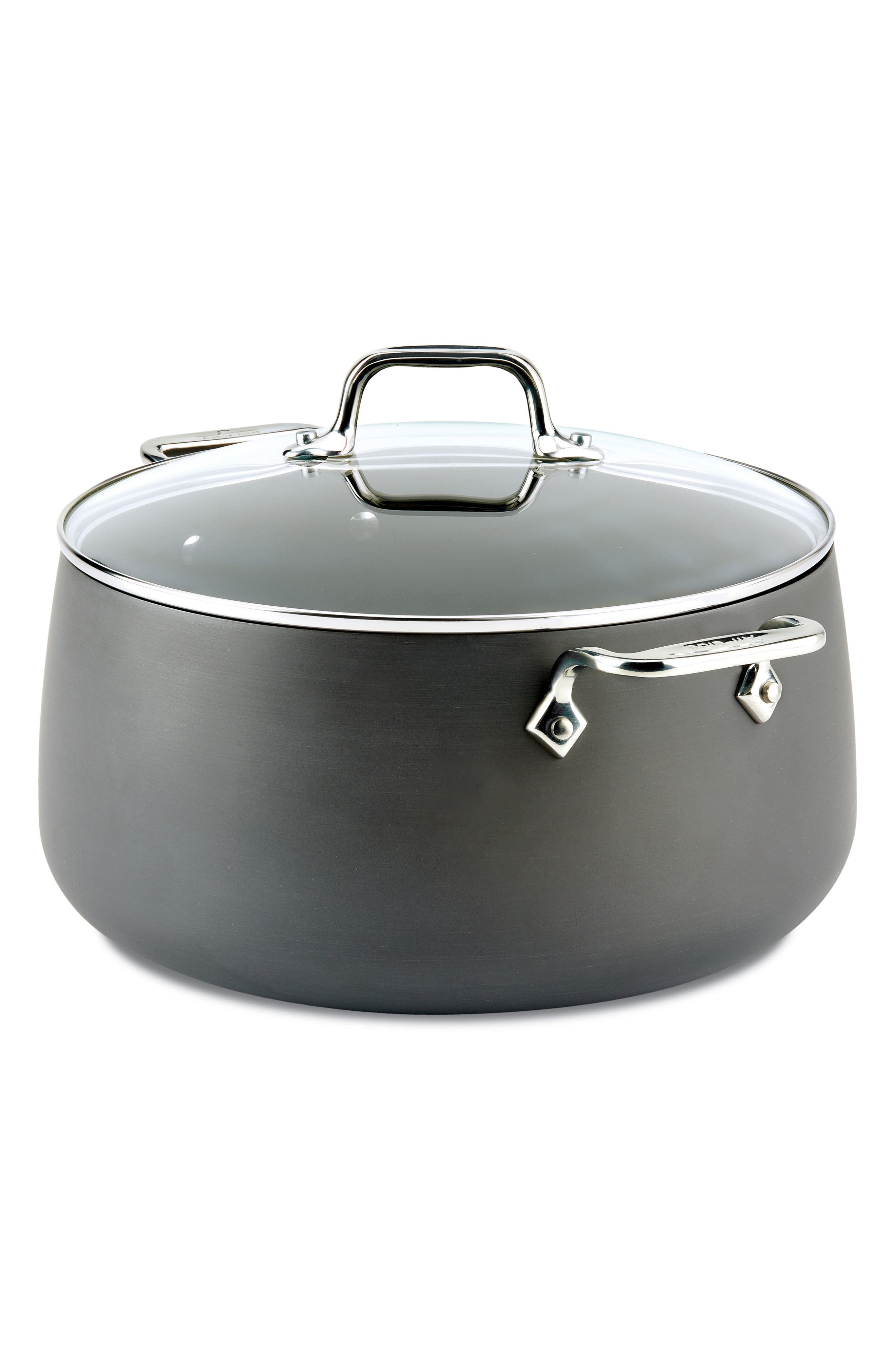 HA1 Hard Anodized 8-Quart Stockpot with Lid, Main, color, BLACK