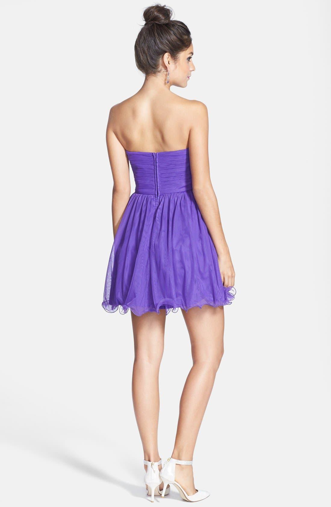 Embellished Party Dress,                             Alternate thumbnail 4, color,                             500