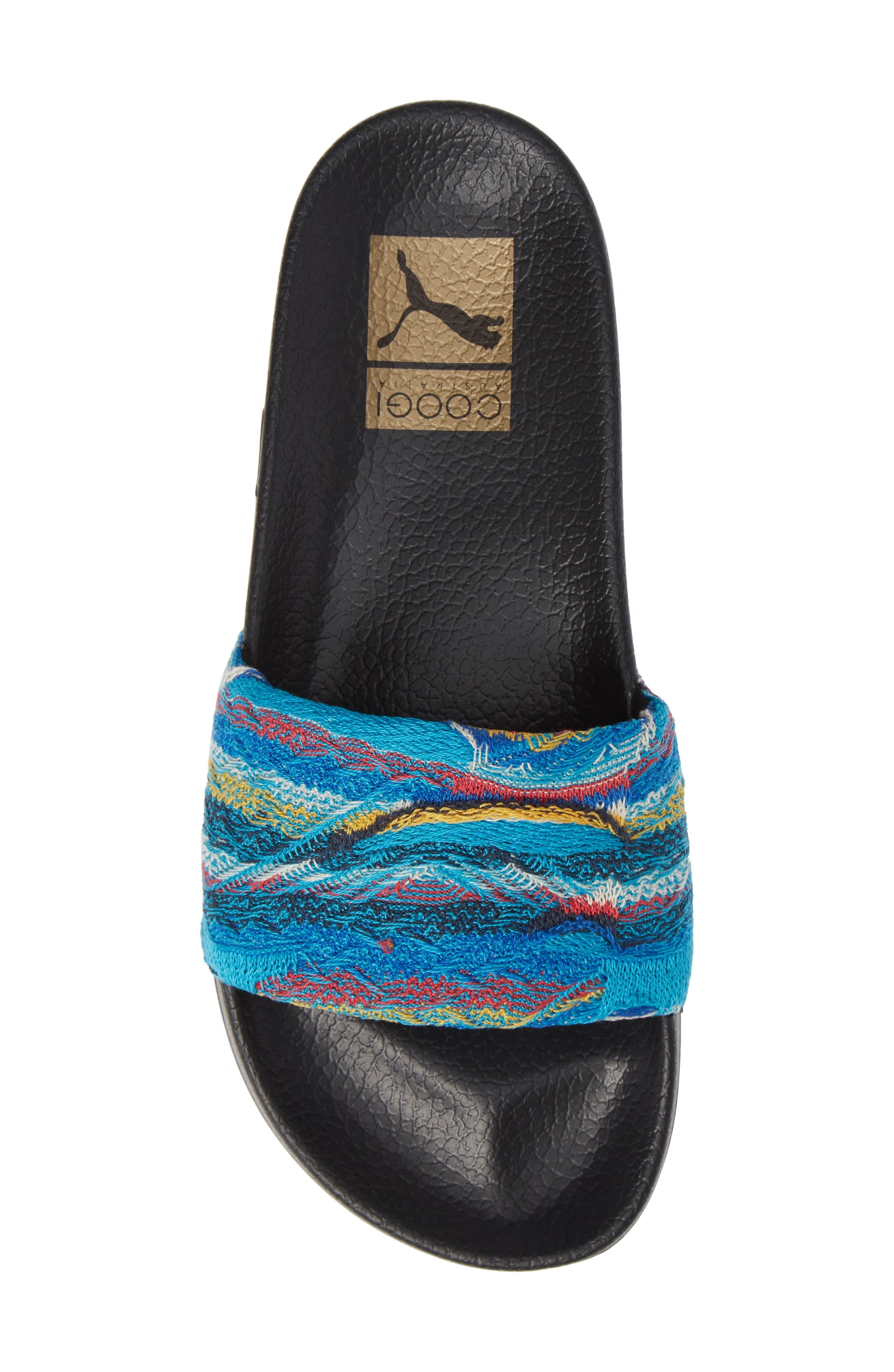 Leadcat Coogie Slide Sandal,                             Alternate thumbnail 5, color,                             ISLAND PARADISE/ PUMA BLACK