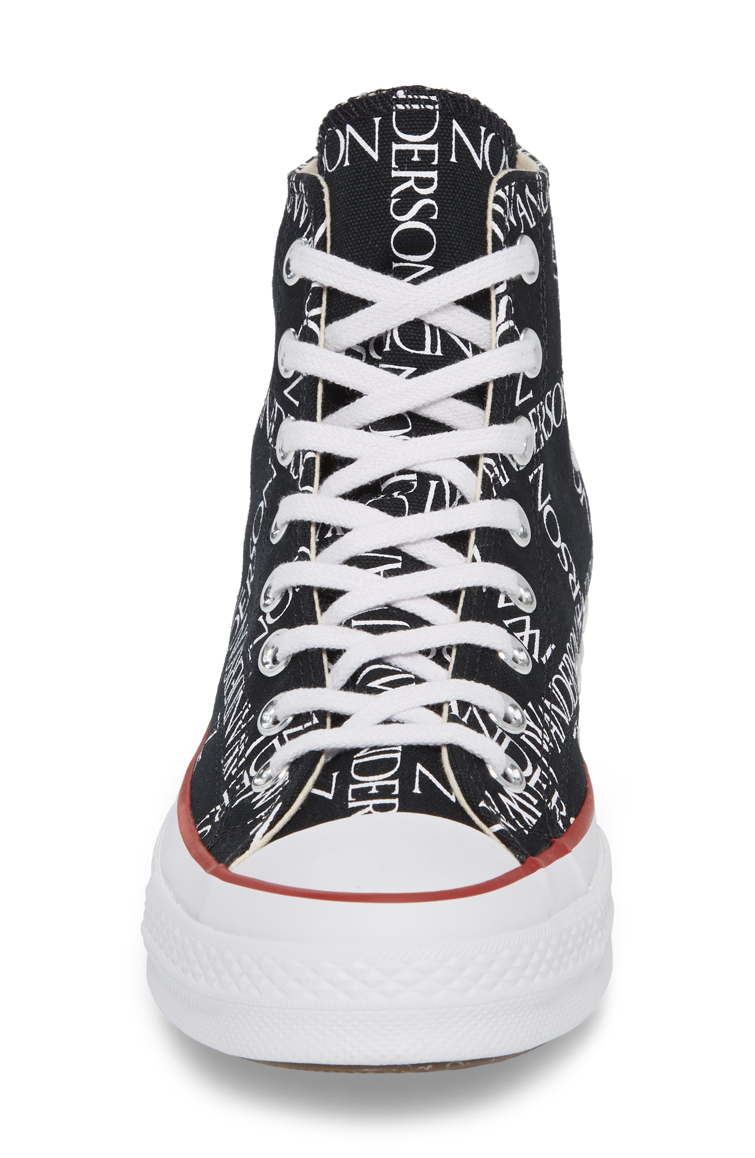 x JW Anderson Chuck Taylor<sup>®</sup> All Star<sup>®</sup> 70 Grid Sneaker,                             Alternate thumbnail 4, color,                             BLACK CANVAS