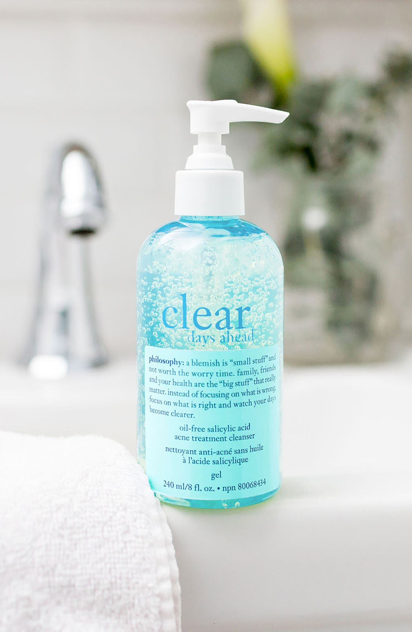 'clear days ahead' acne treatment cleanser,                             Alternate thumbnail 3, color,                             000