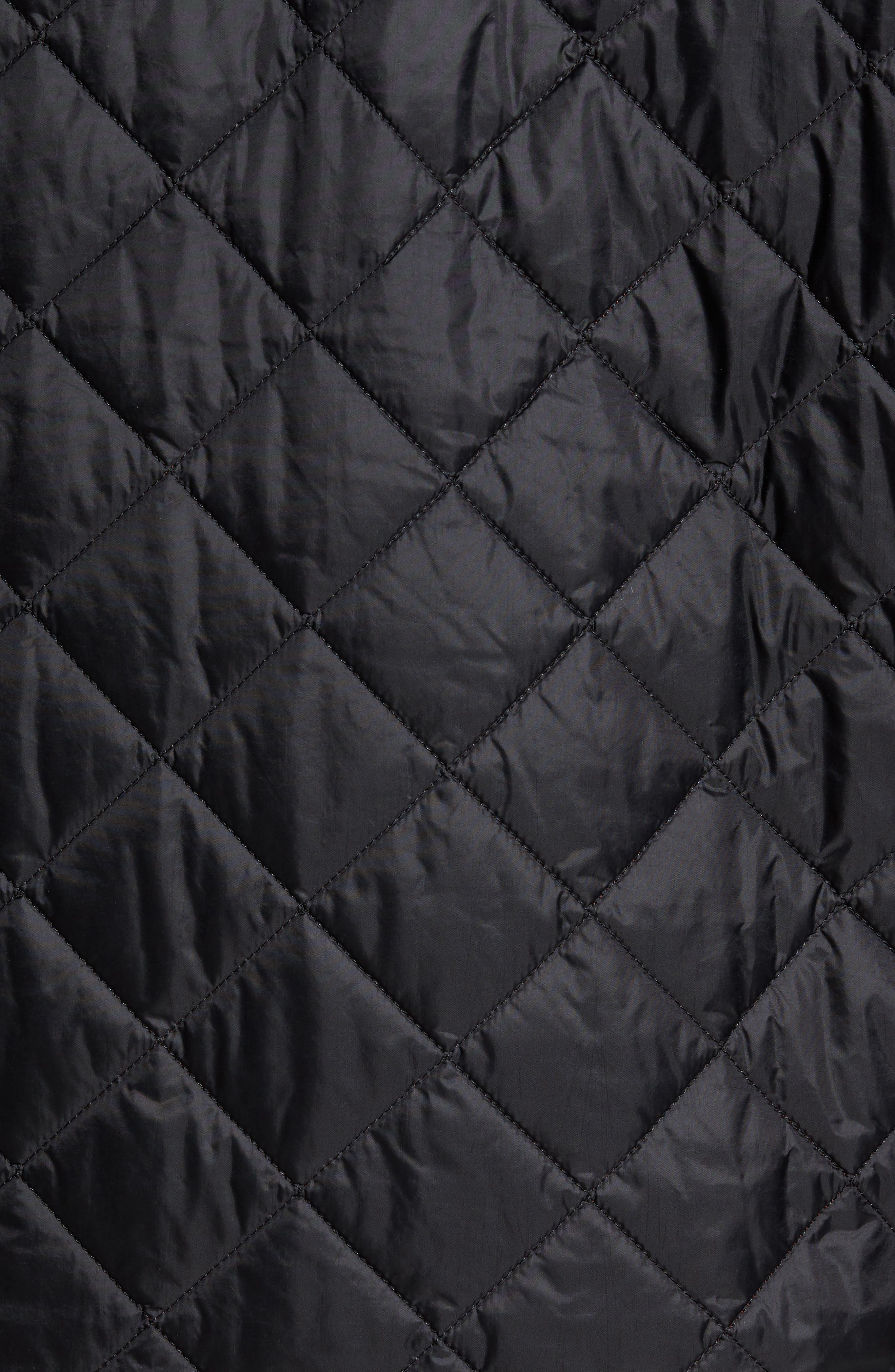 Flyweight Chelsea Quilted Jacket,                             Alternate thumbnail 7, color,                             BLACK