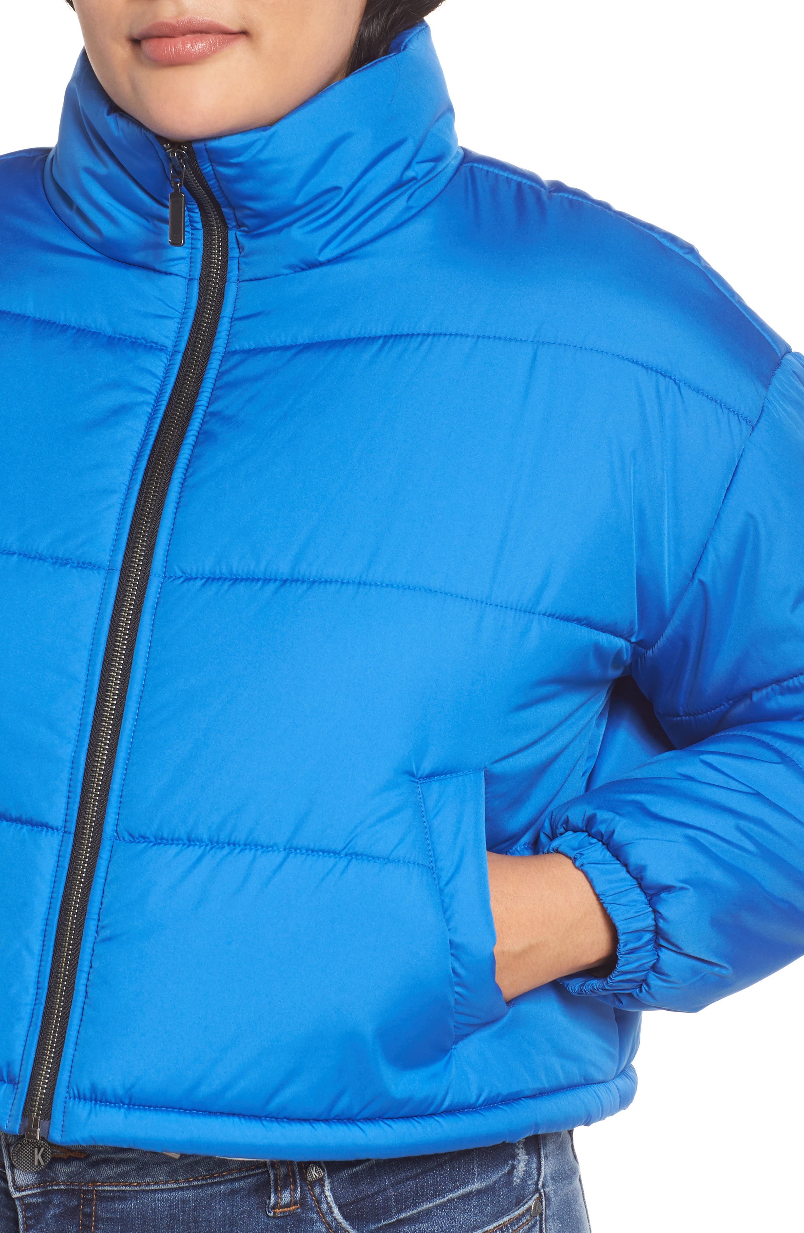 Crop Puffer Jacket,                             Alternate thumbnail 11, color,                             BLUE BOAT