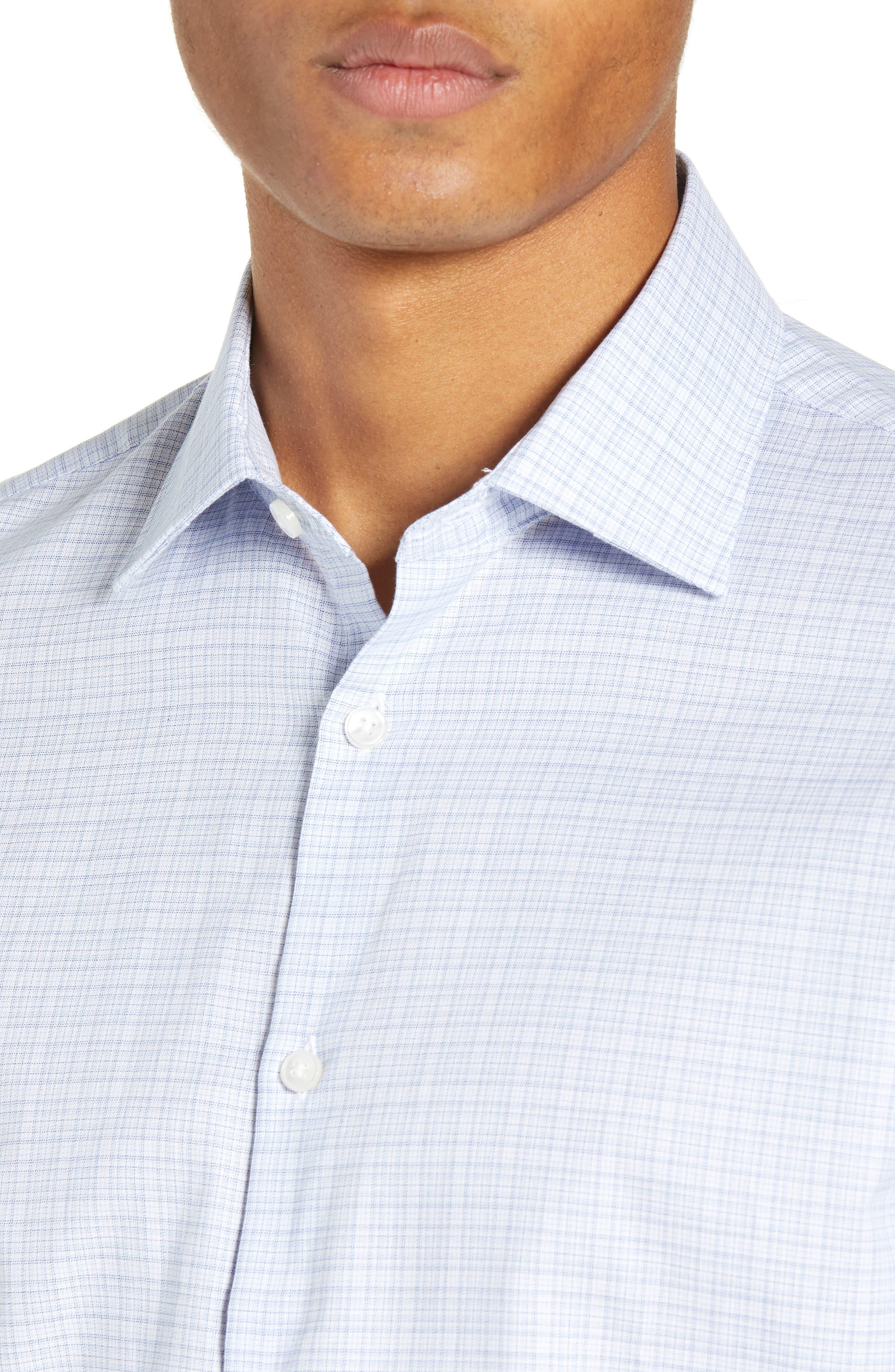 Regular Fit Plaid Dress Shirt,                             Alternate thumbnail 2, color,                             SKY BLUE