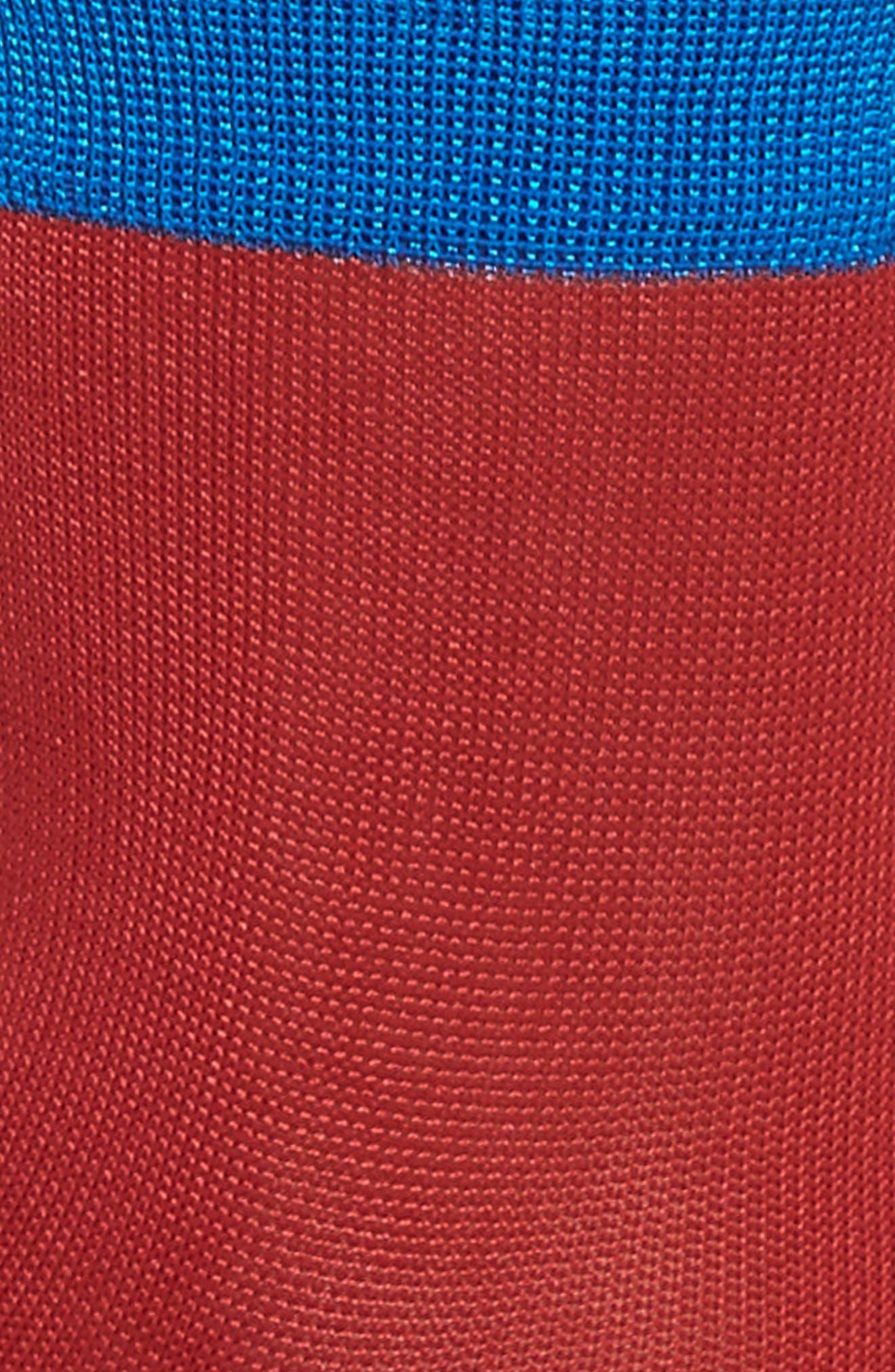 Grace Colorblock Ankle Socks,                             Alternate thumbnail 2, color,                             600