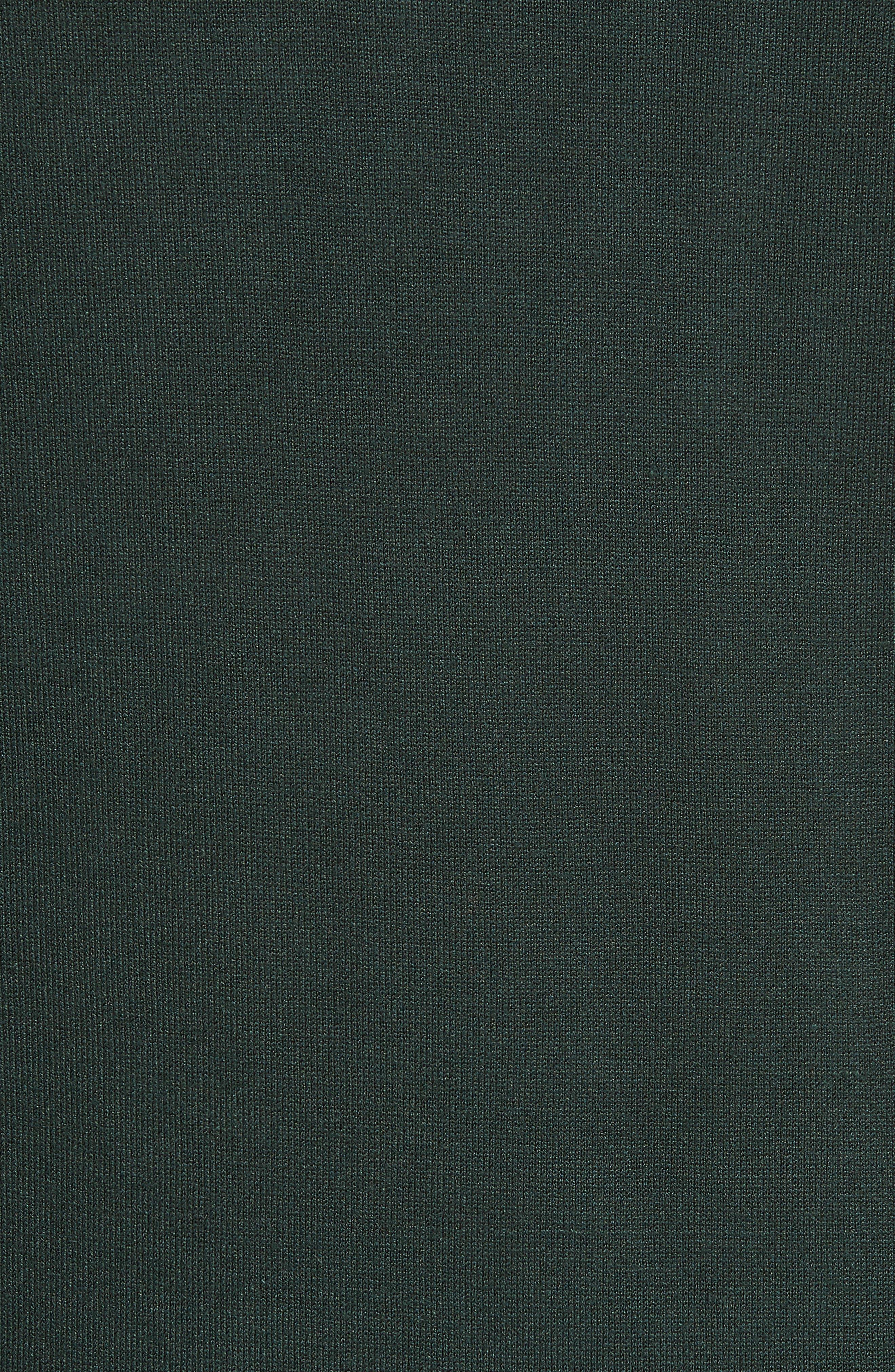 Aniebal Fringe Trim Sweater,                             Alternate thumbnail 5, color,                             DARK GREEN