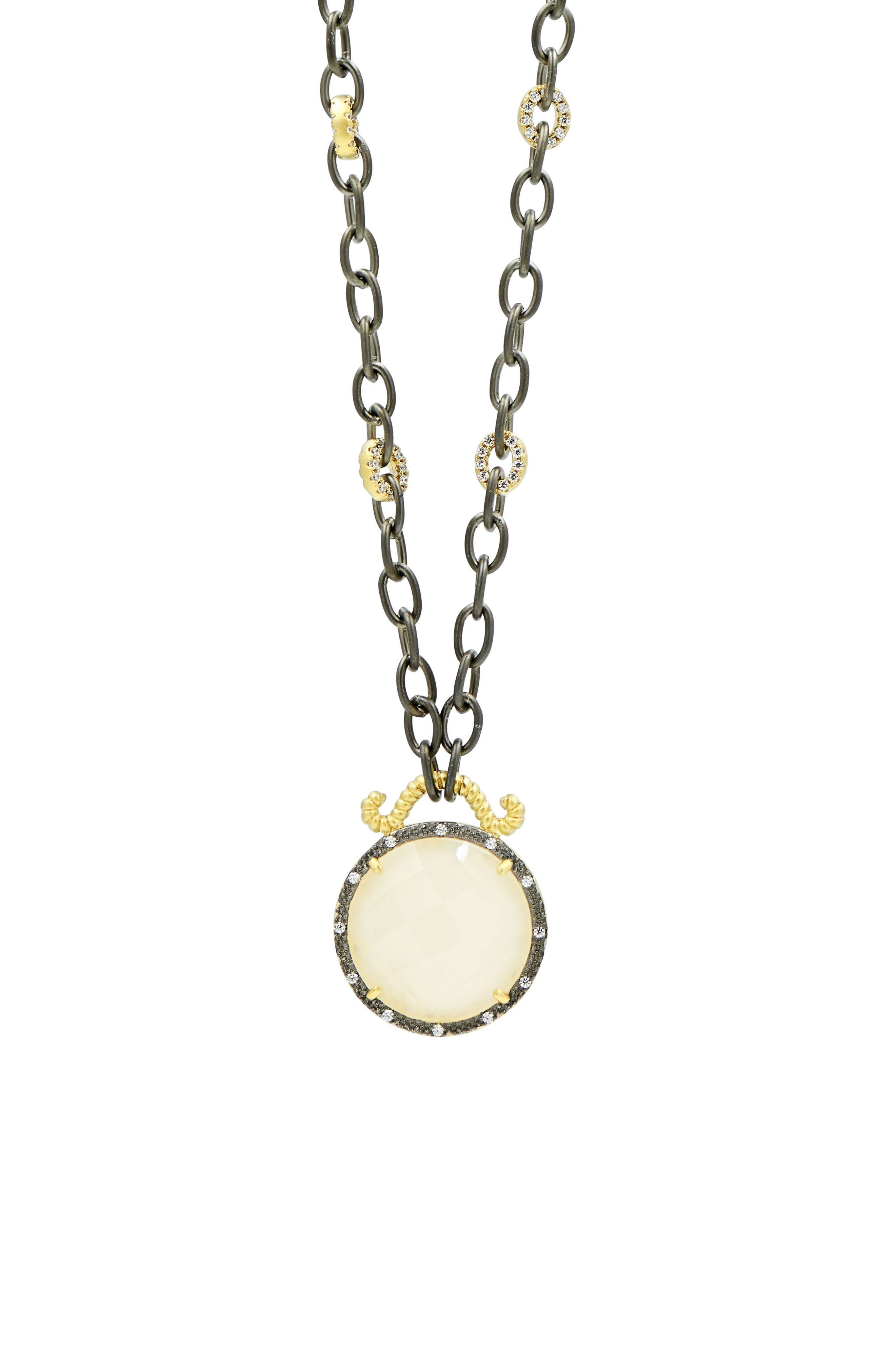 Gilded Cable Reversible Pendant Necklace,                             Alternate thumbnail 2, color,