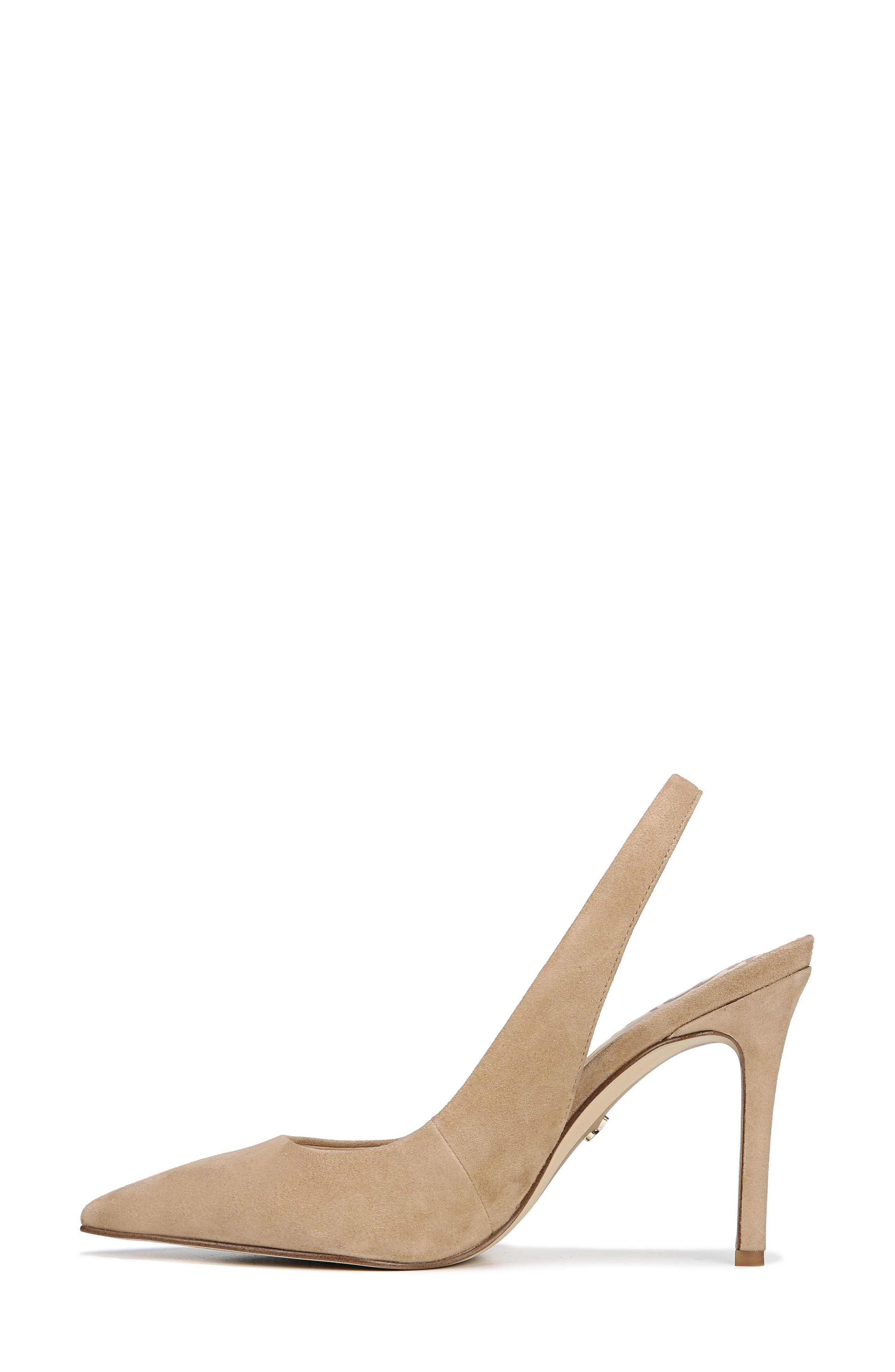Hastings Slingback Pump,                             Alternate thumbnail 8, color,                             OATMEAL SUEDE LEATHER