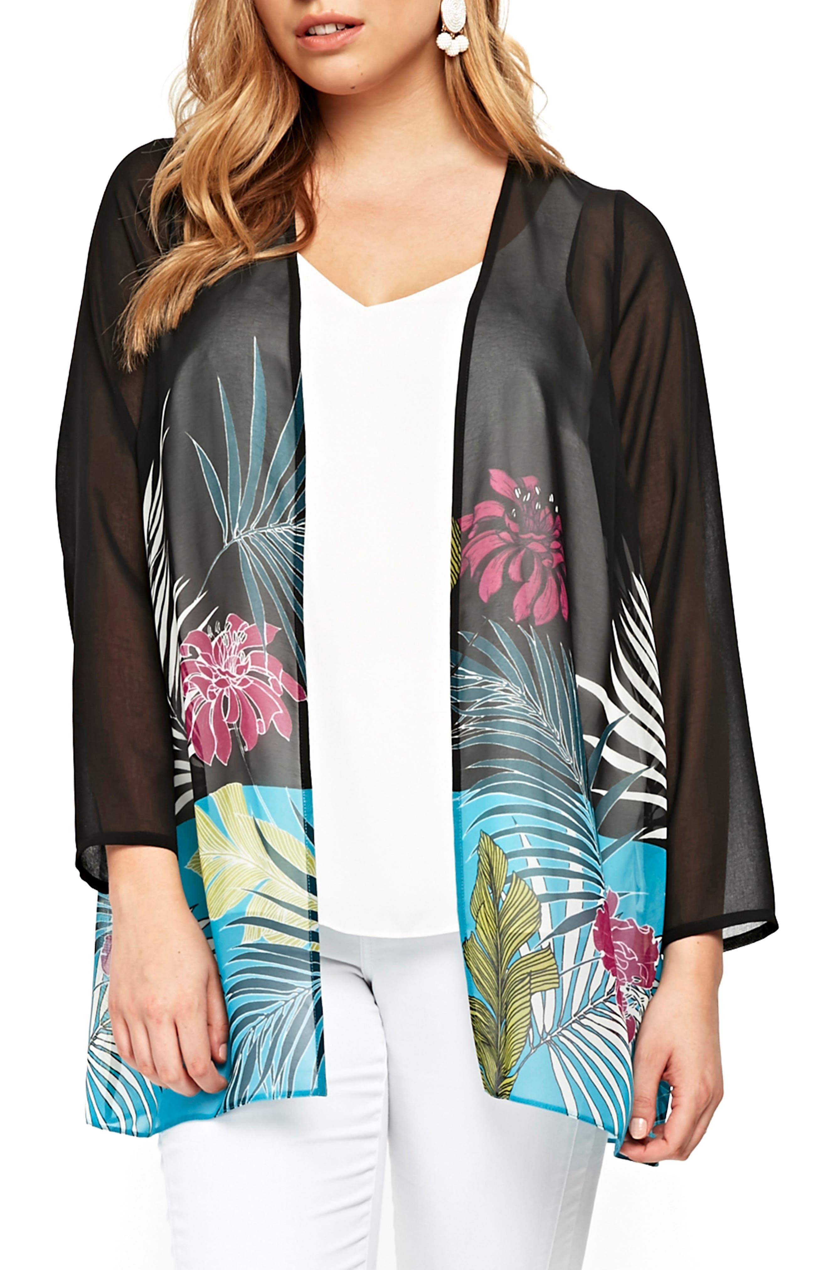 Tropical Kimono,                             Main thumbnail 1, color,                             001
