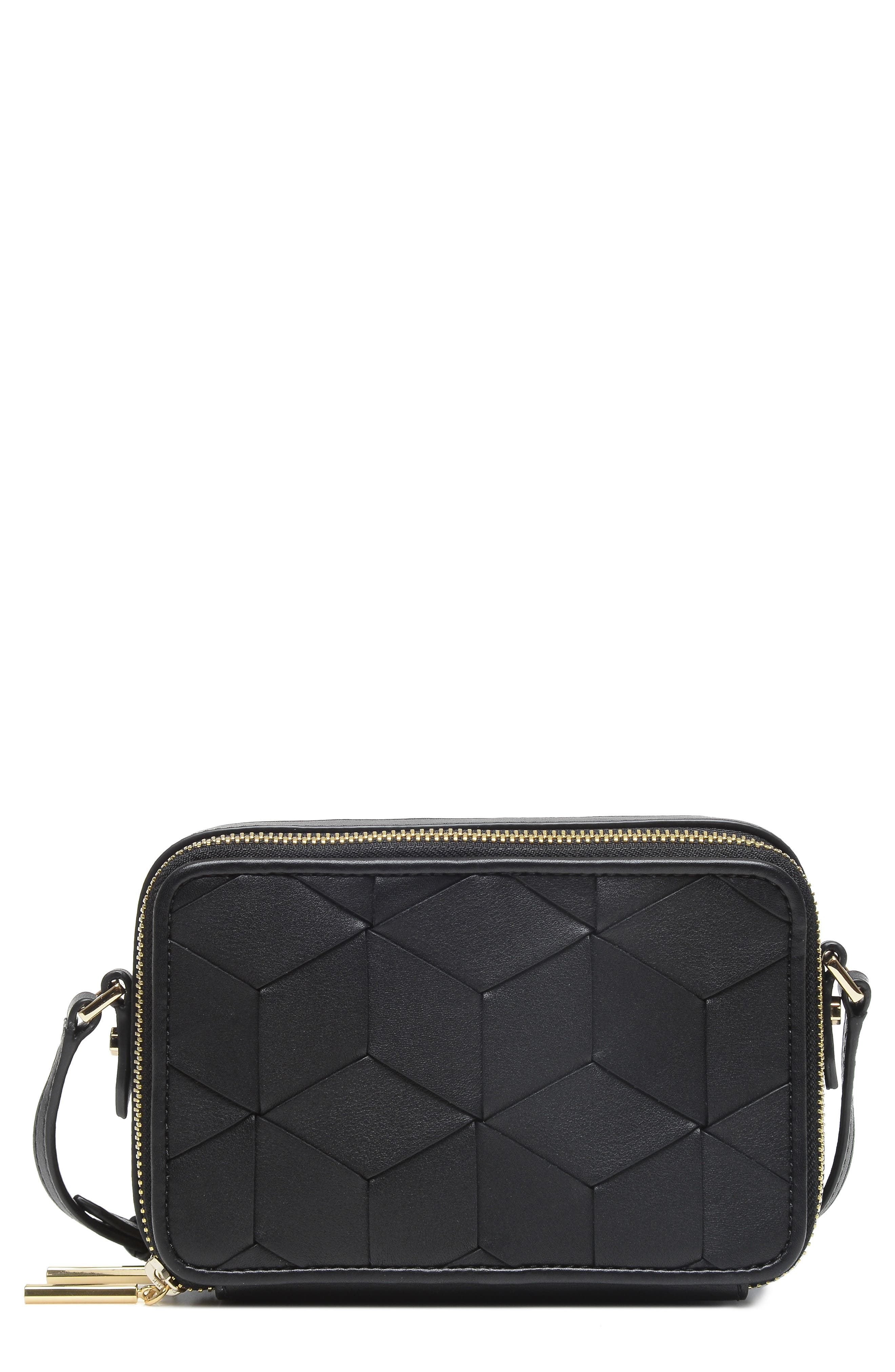 Roam Leather Camera Bag,                         Main,                         color, BLACK