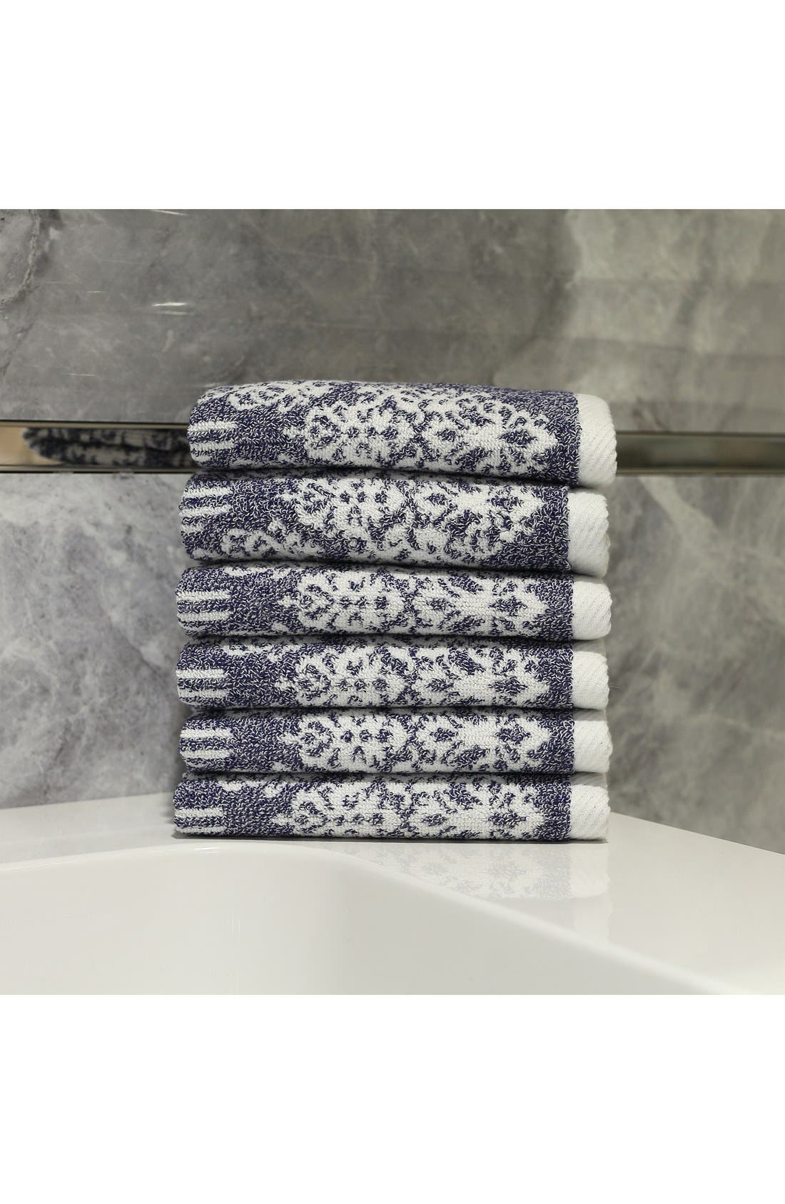 Linum 'Gioia' Turkish Cotton Washcloths,                             Alternate thumbnail 5, color,