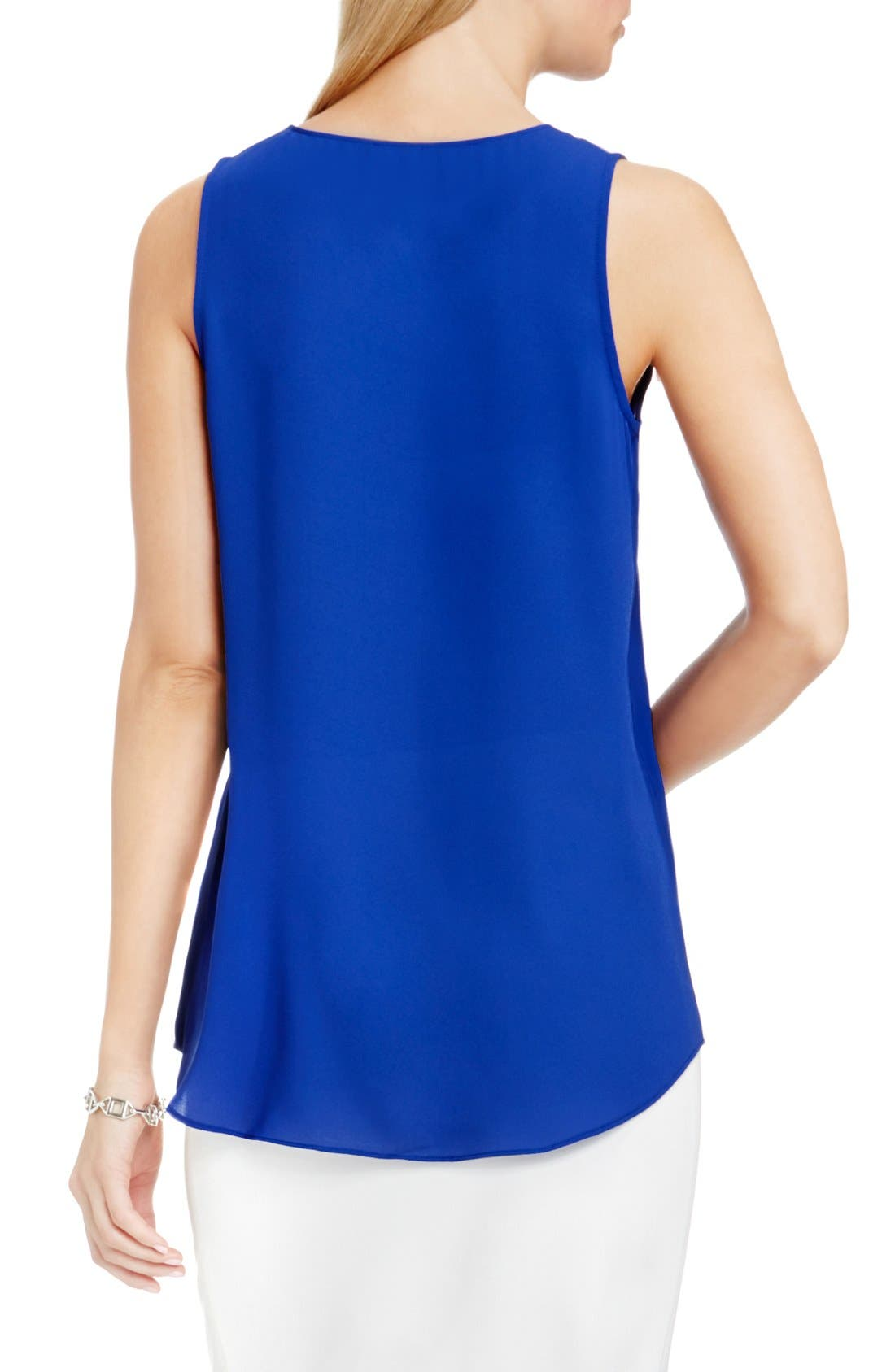 Drape Front V-Neck Sleeveless Blouse,                             Alternate thumbnail 75, color,