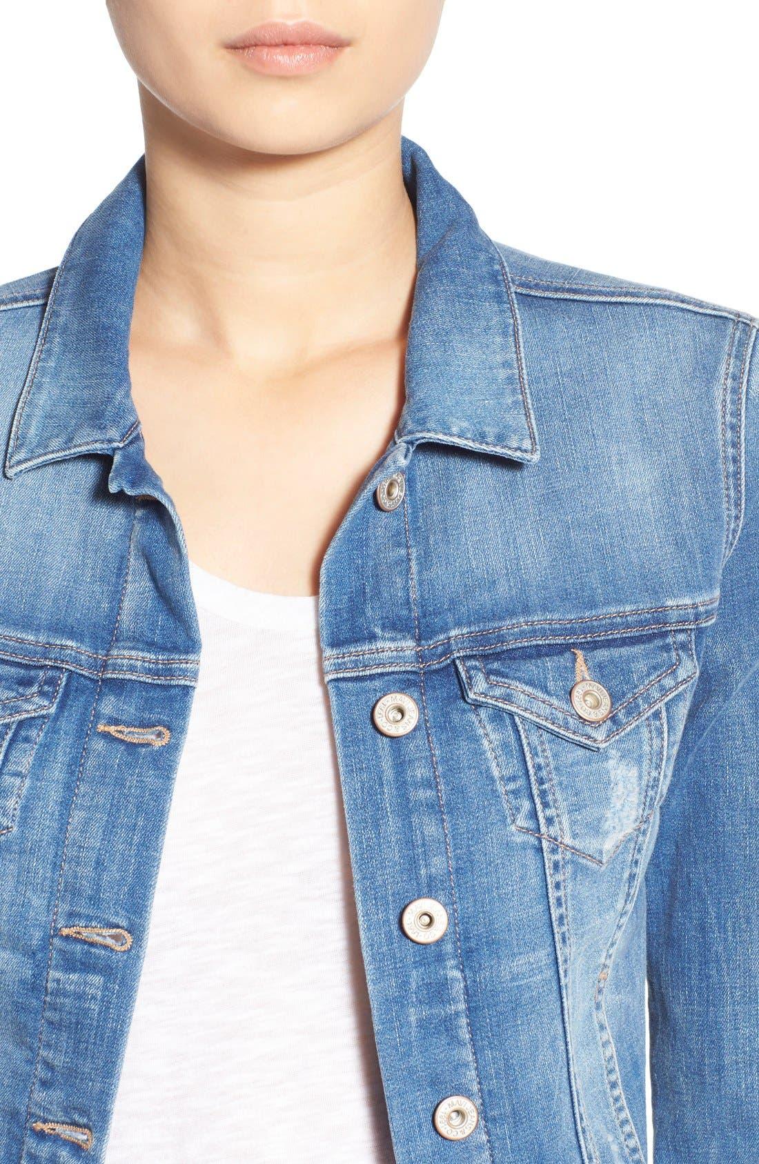 'Samantha' Denim Jacket,                             Alternate thumbnail 5, color,                             450