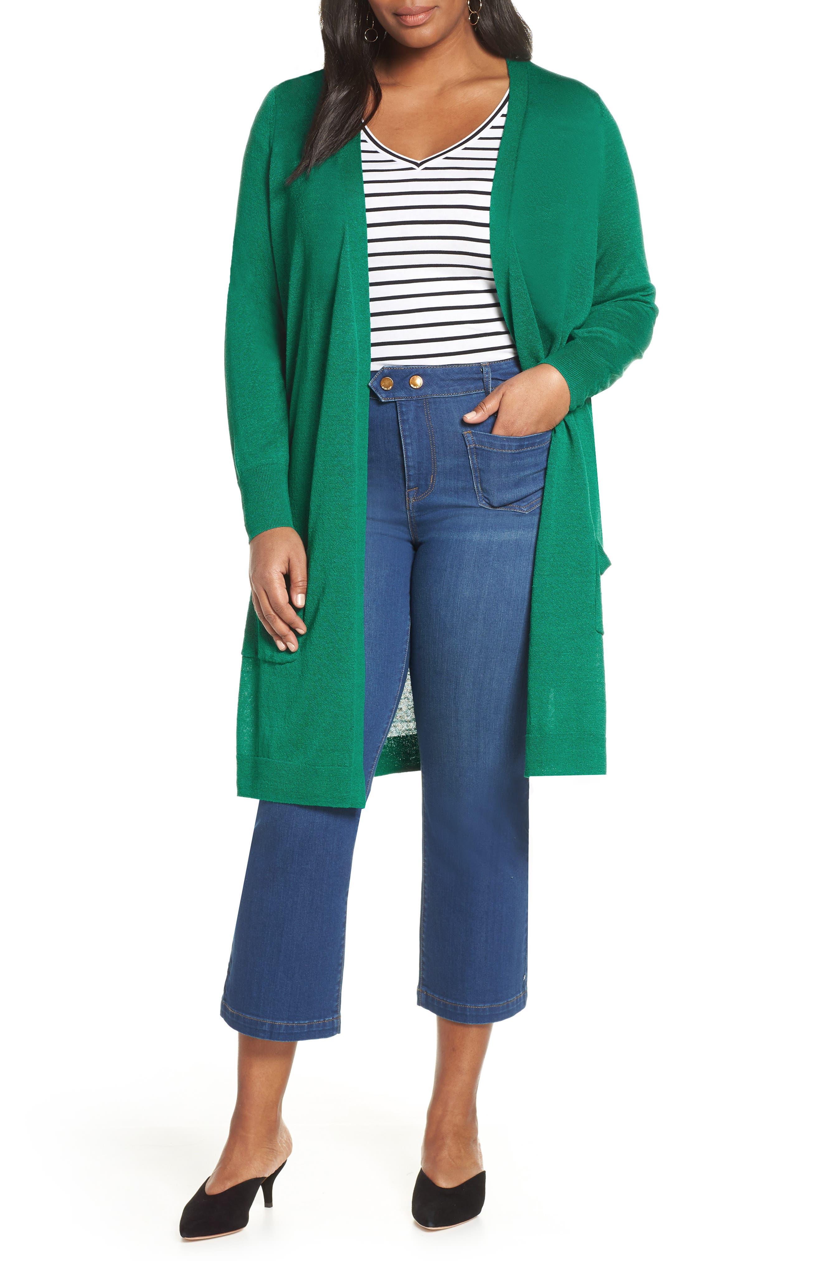 Plus Size Halogen Long Cardigan