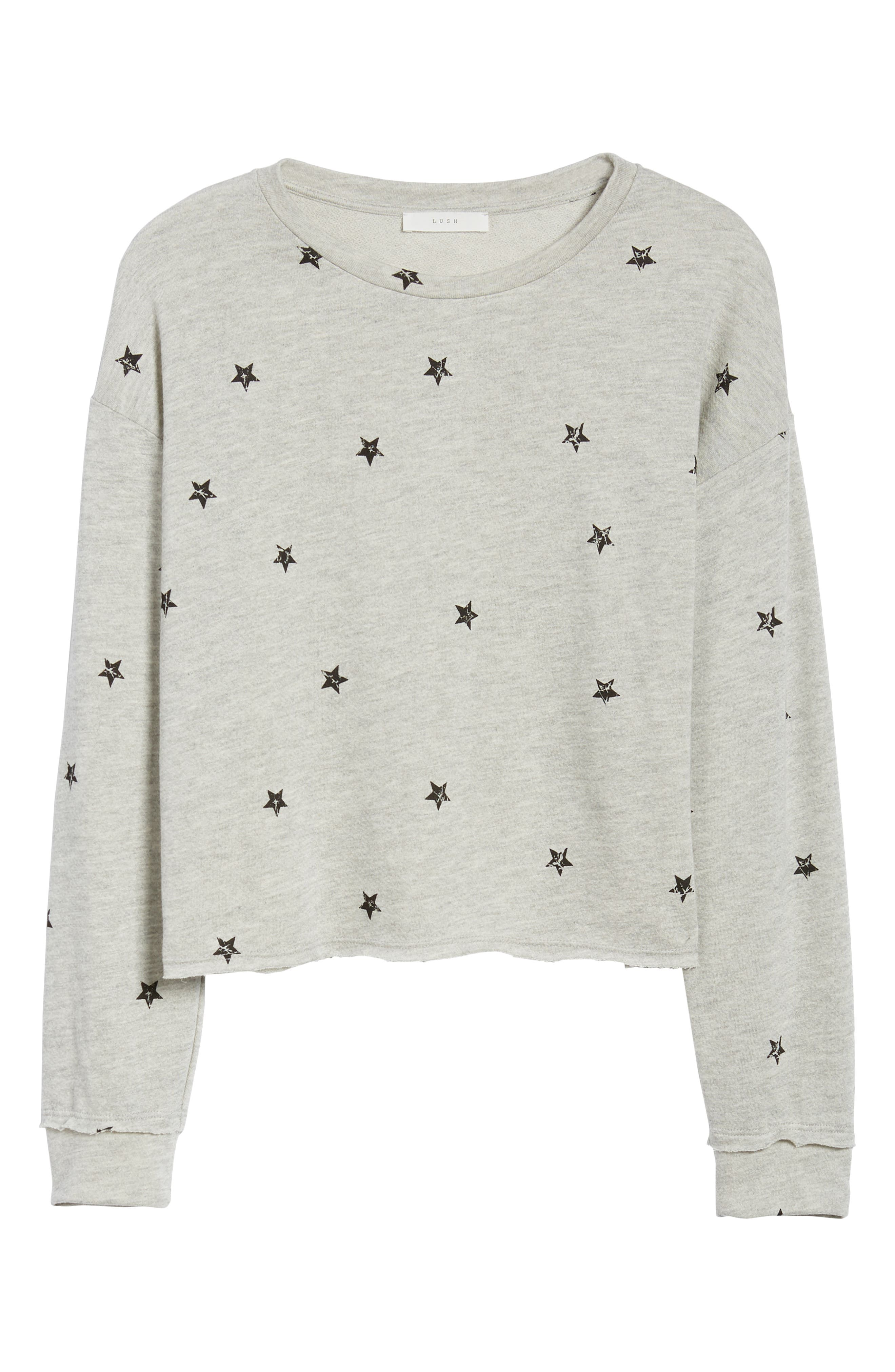 Star Print Sweatshirt,                             Alternate thumbnail 6, color,                             035