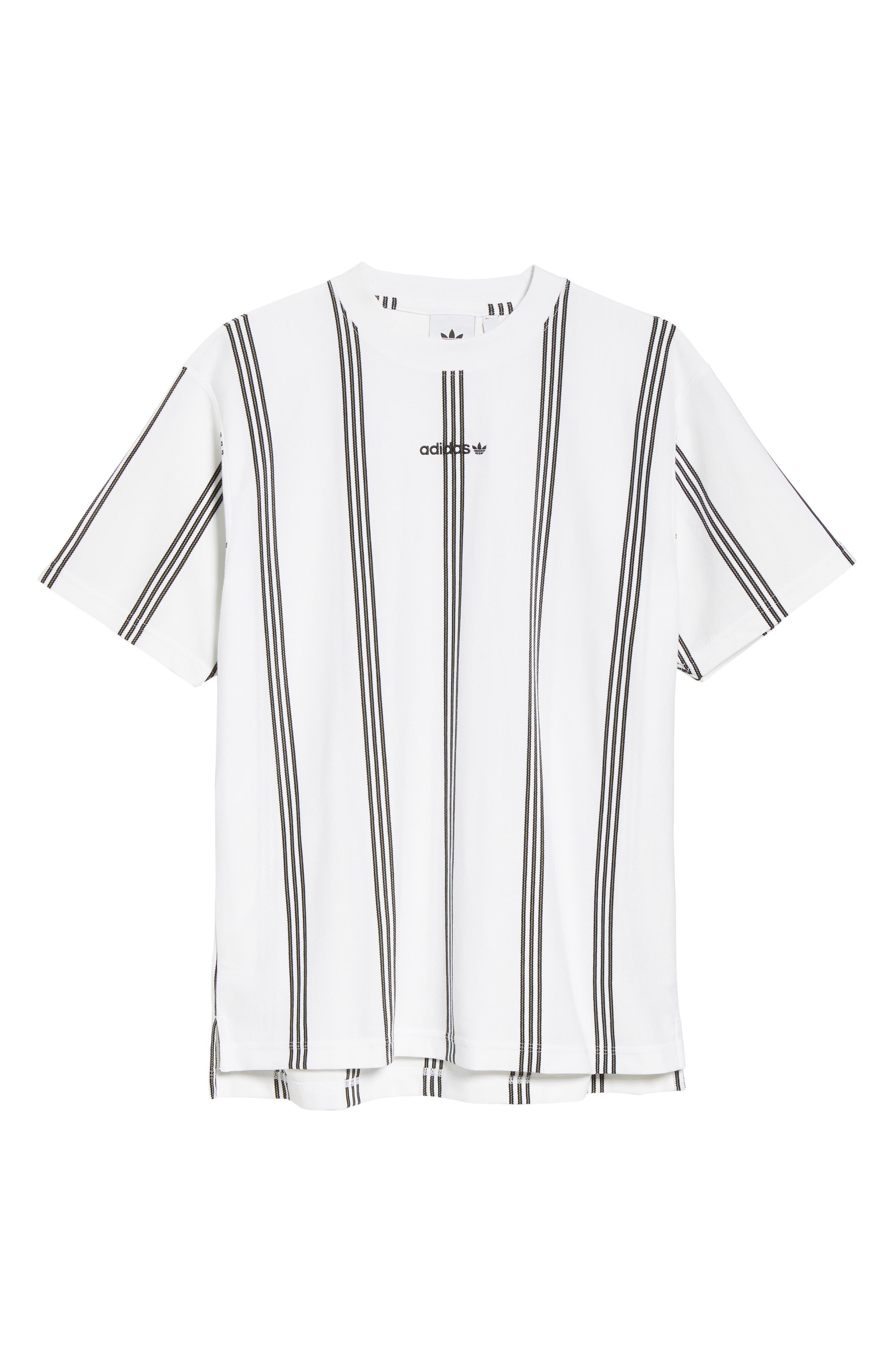 Stripe Tennis T-Shirt,                             Alternate thumbnail 6, color,                             100