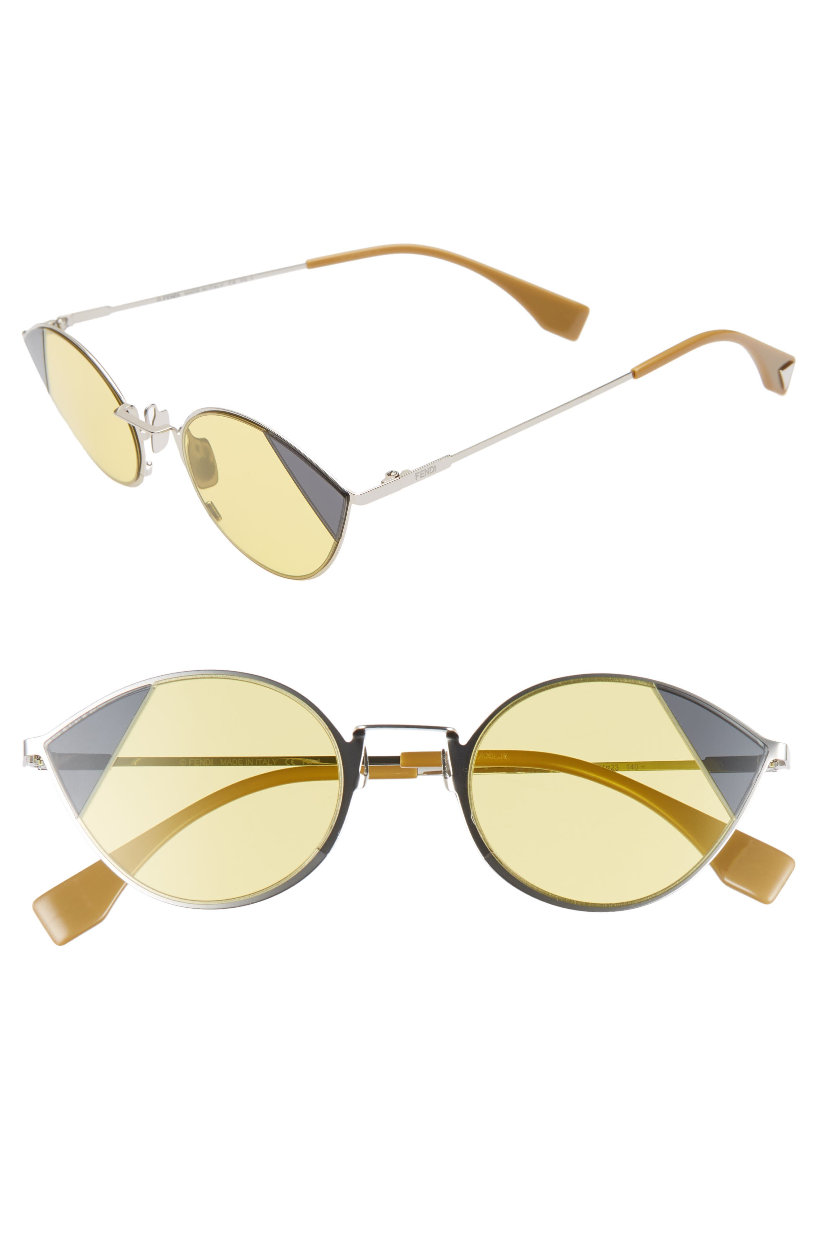 51Mm Aviator Sunglasses - Silver/ Gold
