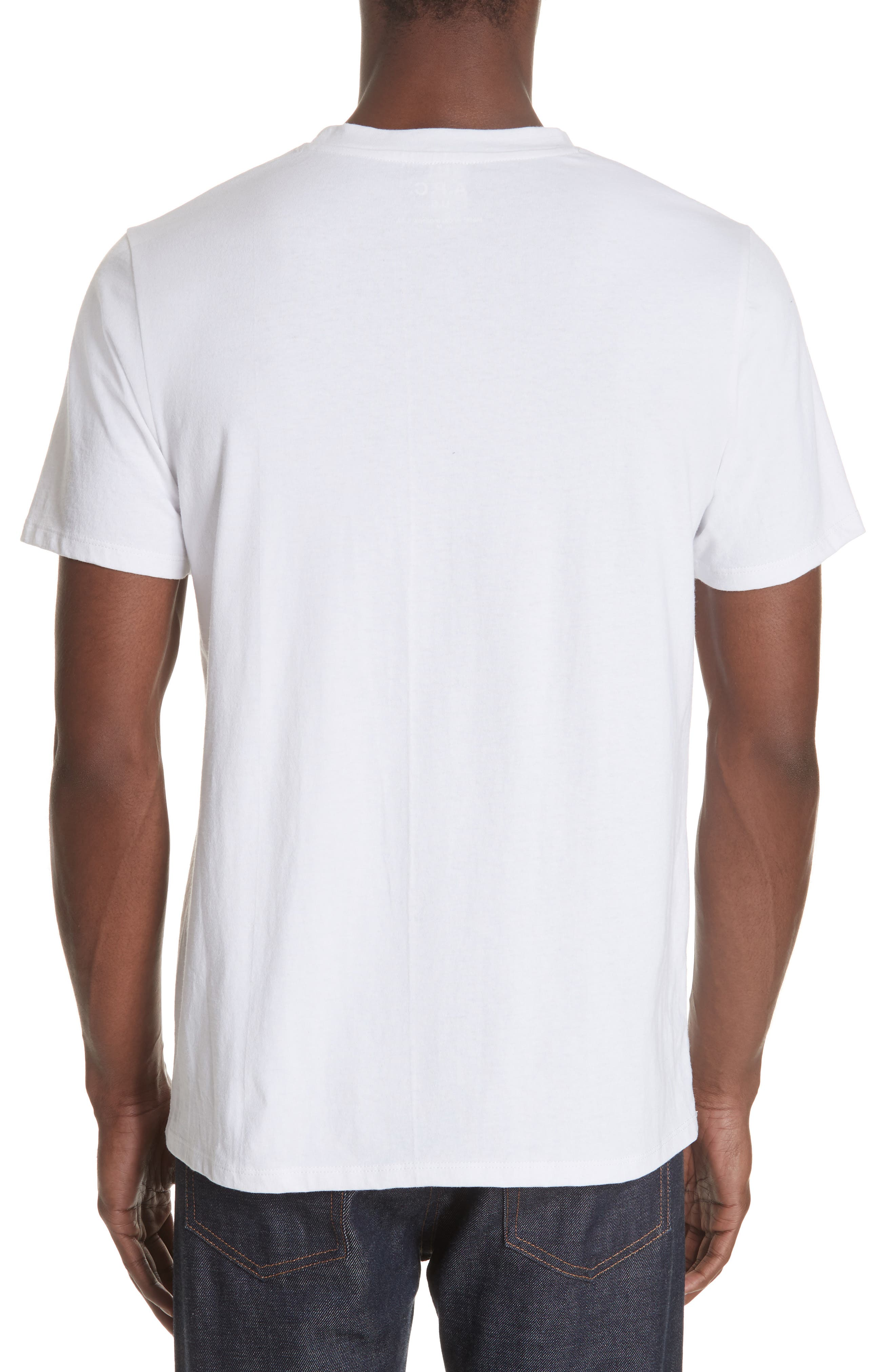 New Logo Graphic T-Shirt,                             Alternate thumbnail 2, color,                             AAB BLANC