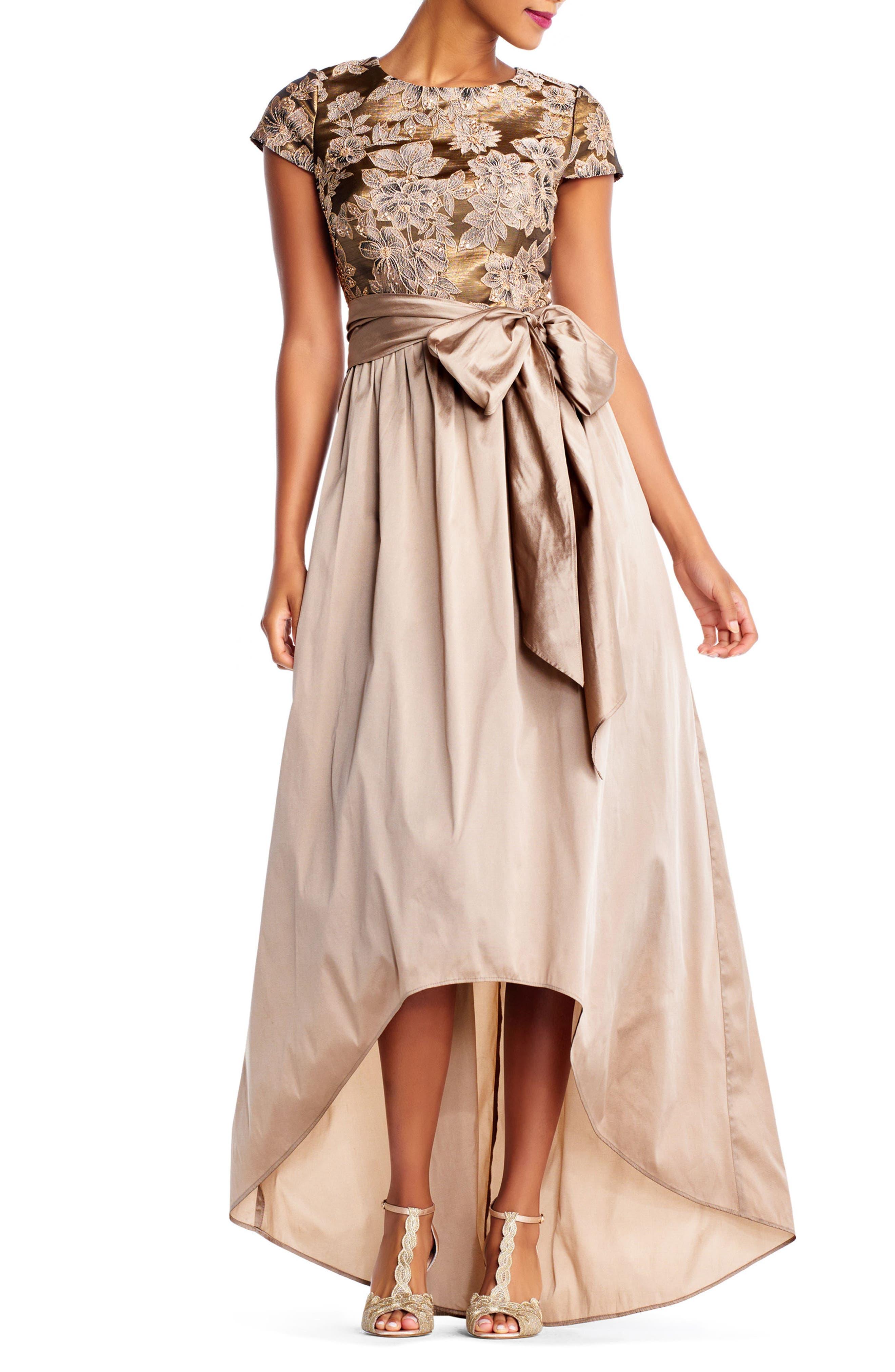 Taffeta High/Low Gown,                             Main thumbnail 1, color,                             920