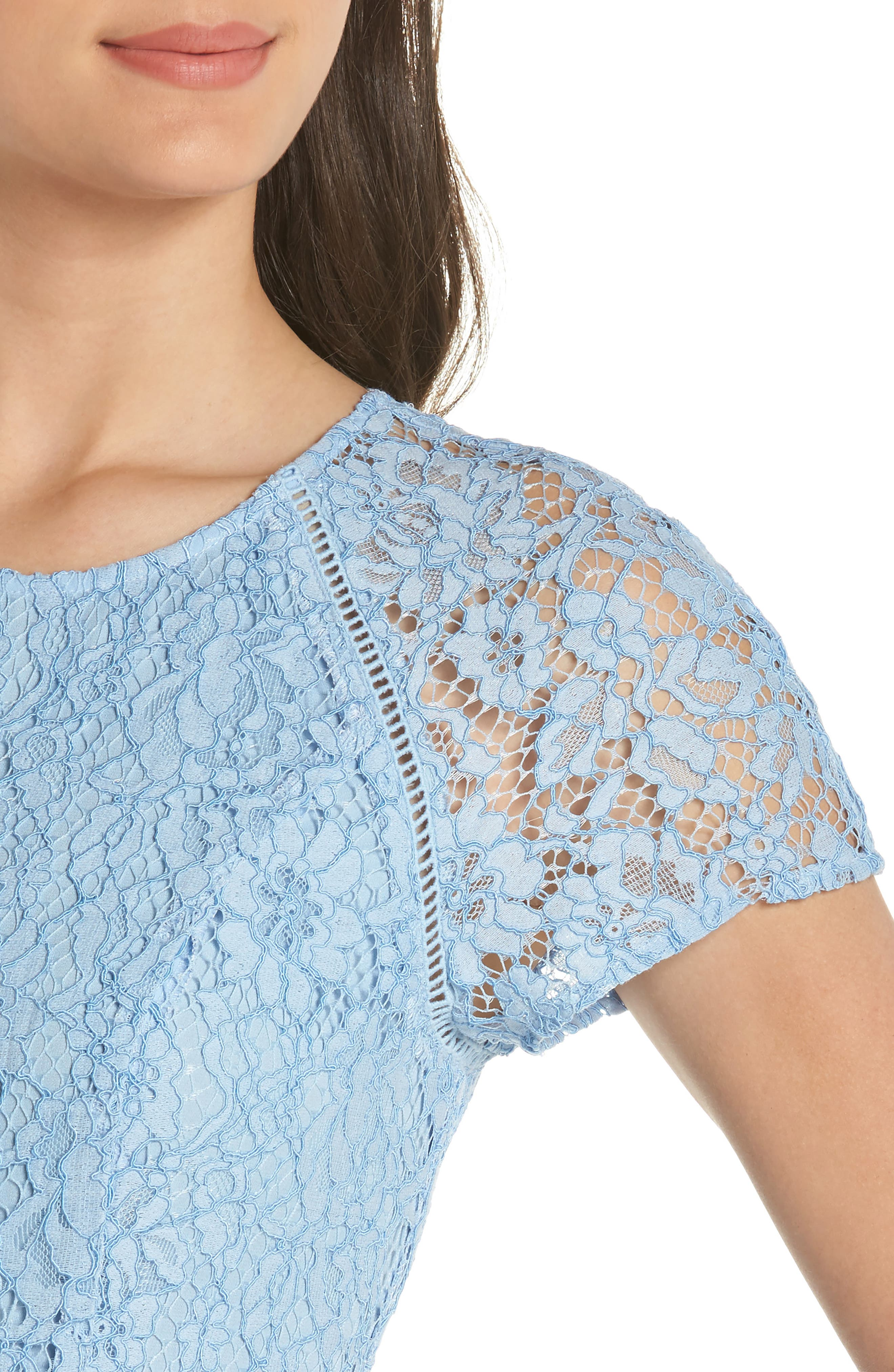 Raglan Sleeve Lace Dress,                             Alternate thumbnail 4, color,                             400