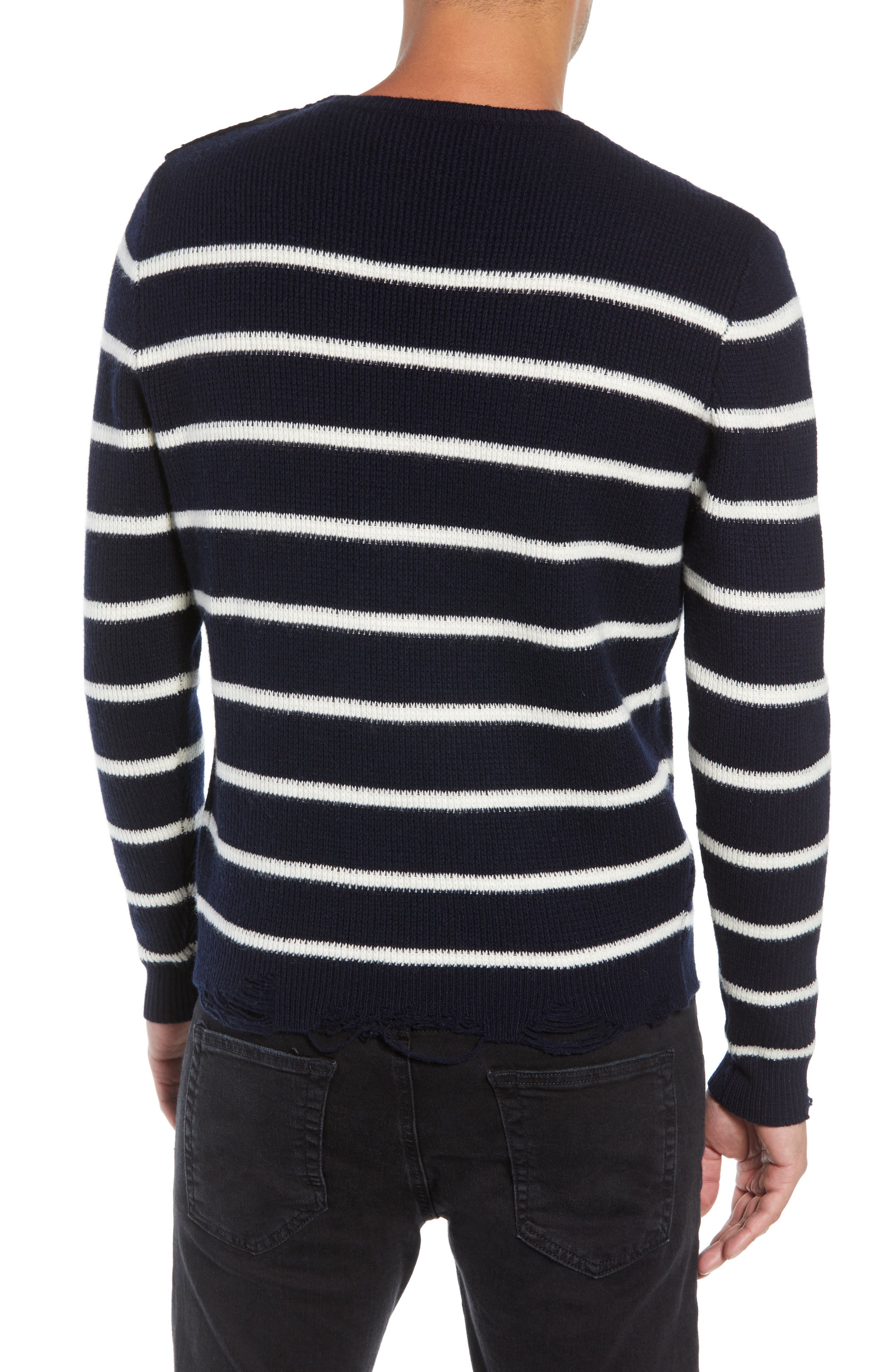 Regular Fit Striped Sweater,                             Alternate thumbnail 2, color,                             400