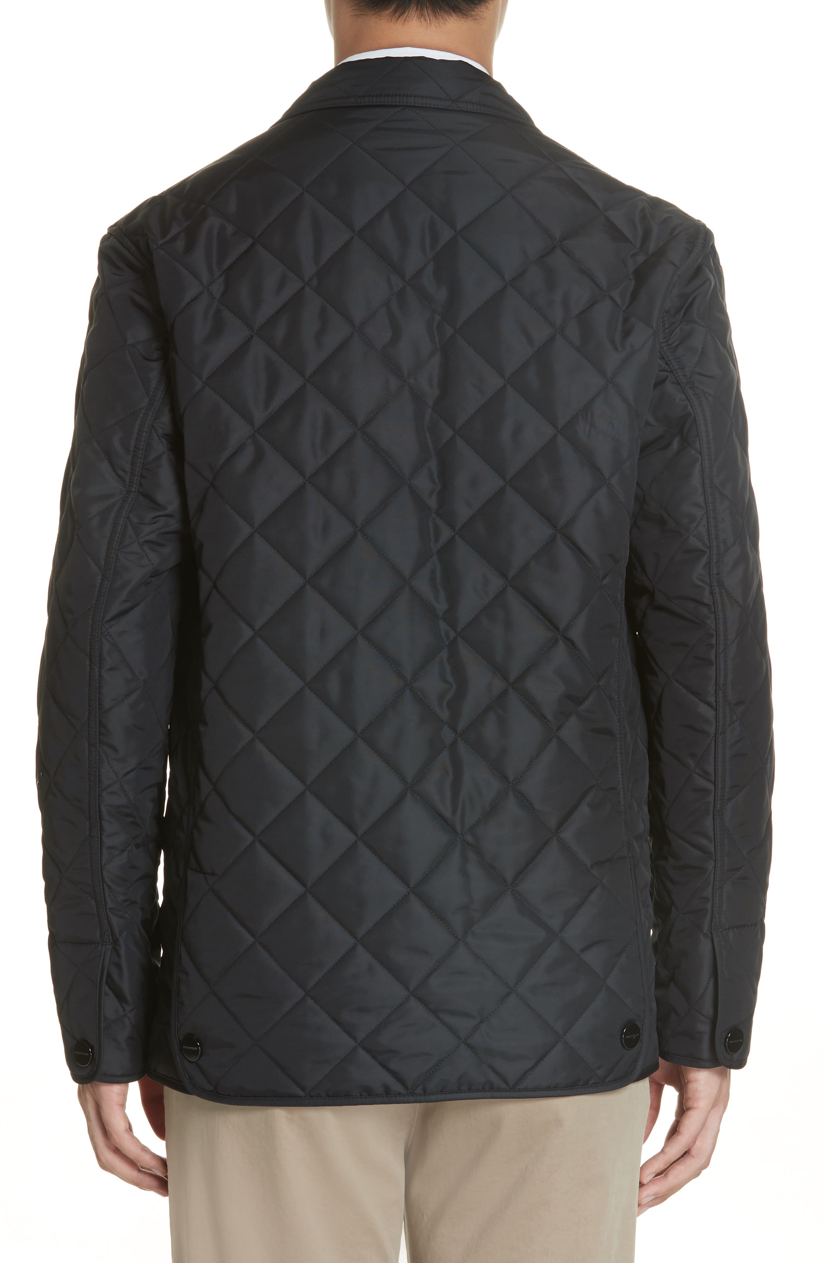 Clifton Quilted Blazer,                             Alternate thumbnail 2, color,                             BLACK