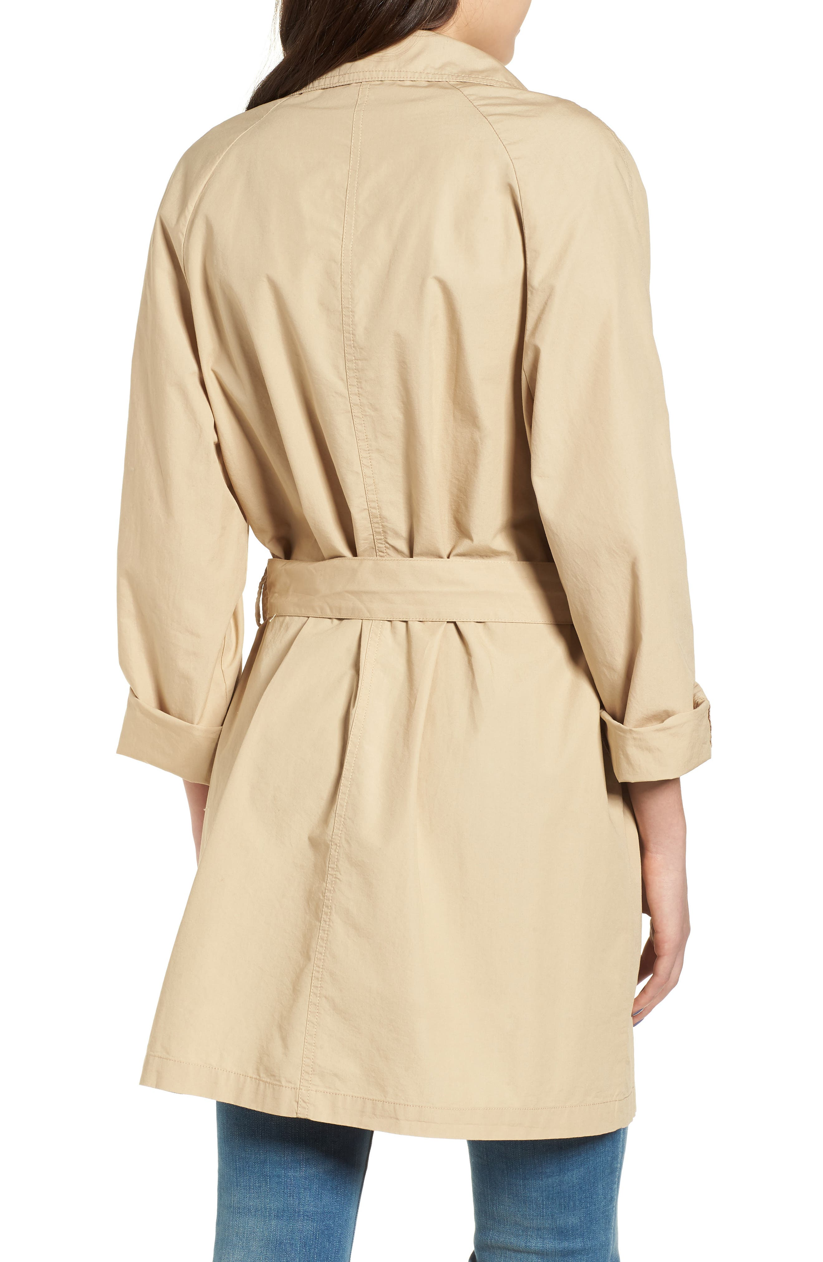 Double Breasted Belted Trench Coat,                             Alternate thumbnail 2, color,                             260