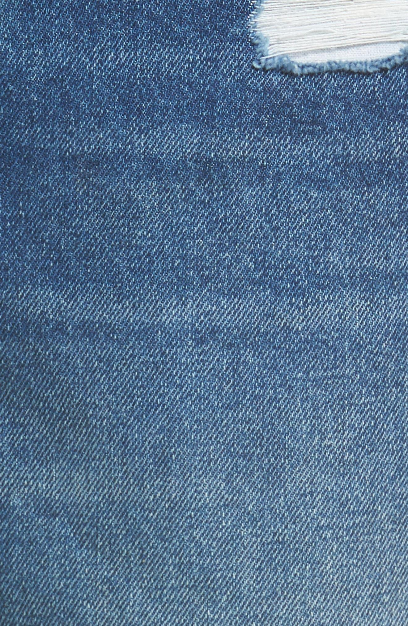 Embellished Straight Leg Jeans,                             Alternate thumbnail 5, color,                             400