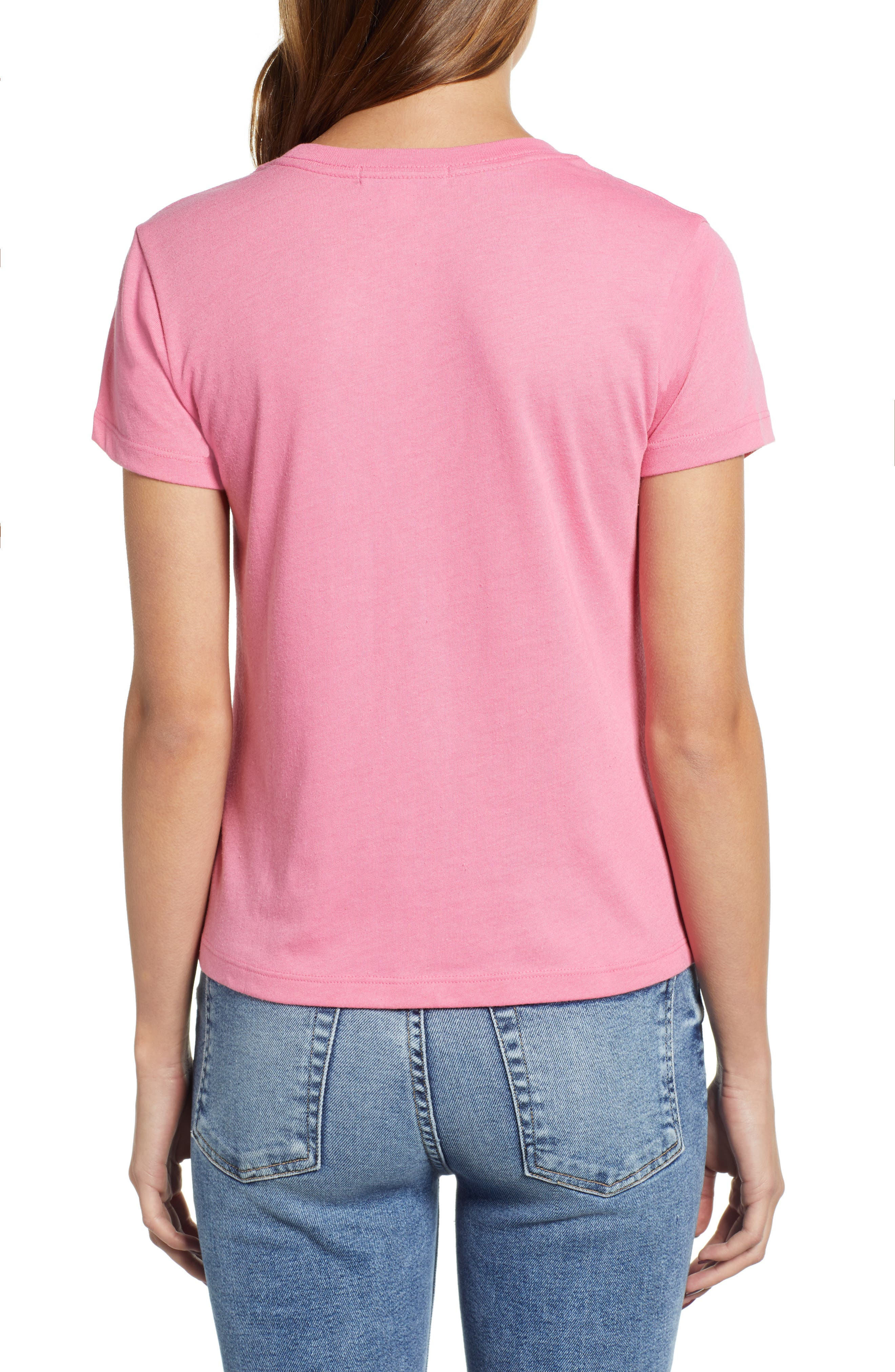 Embroidered Heart Tee,                             Alternate thumbnail 2, color,                             PINK
