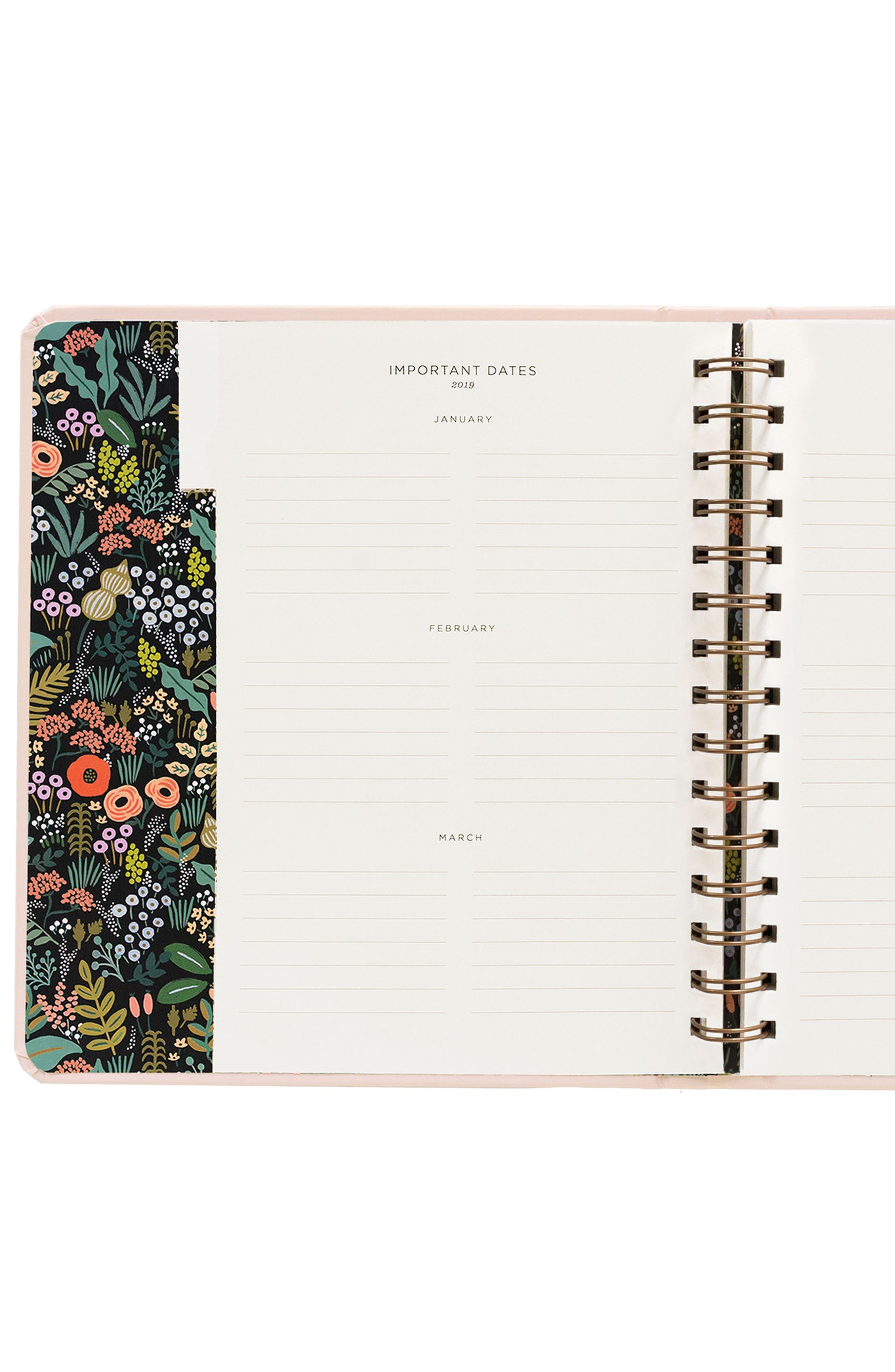 2019 Bouquet 17-Month Planner,                             Alternate thumbnail 5, color,                             PINK