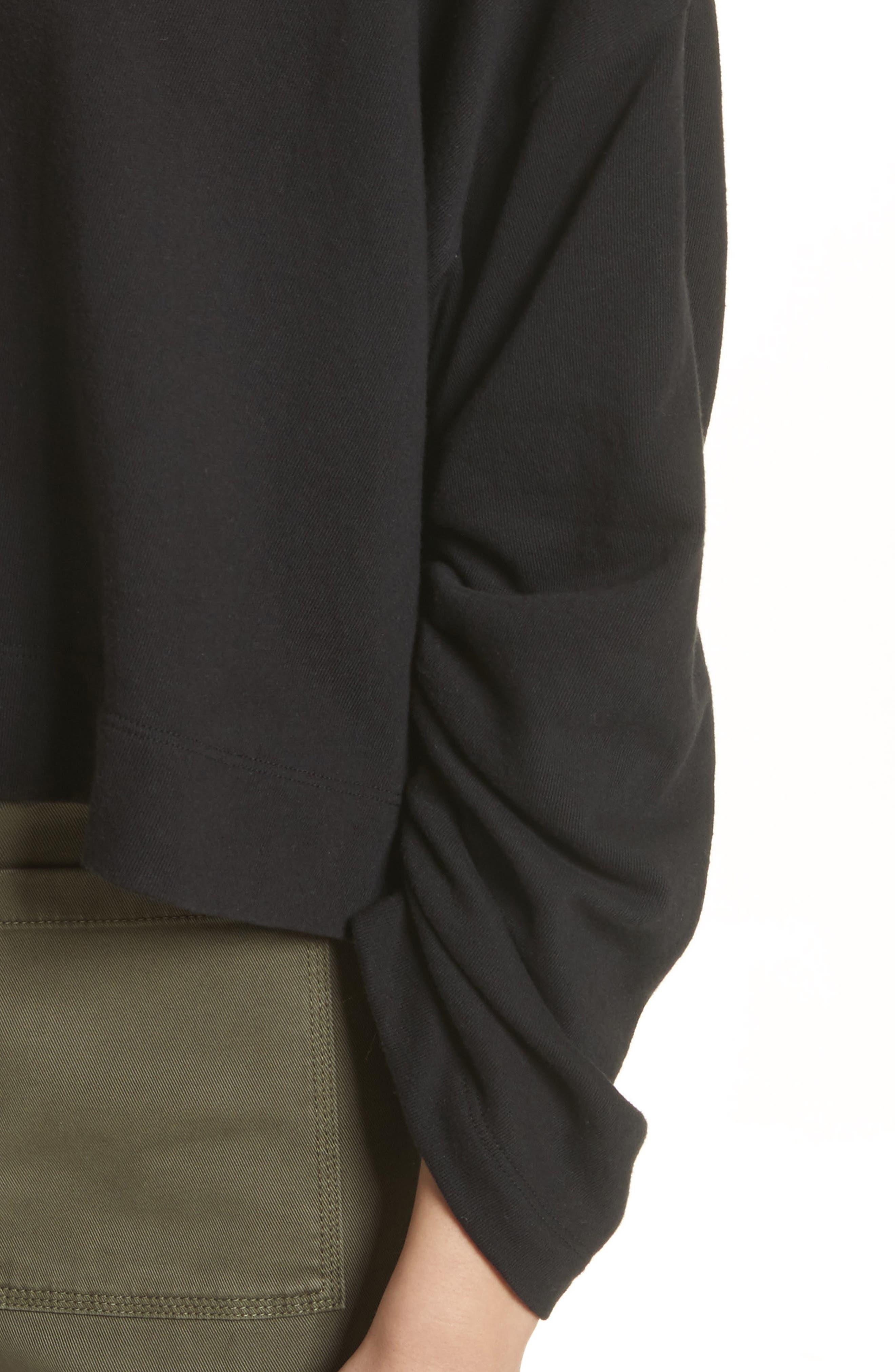 Ember Ruched Sleeve Sweatshirt,                             Alternate thumbnail 7, color,