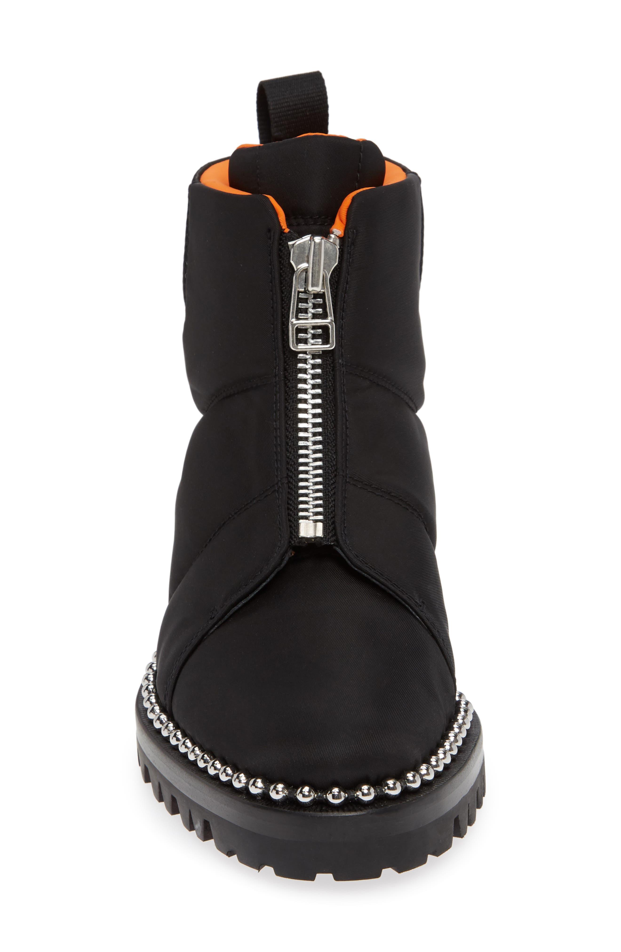 Cooper Studded Boot,                             Alternate thumbnail 4, color,                             BLACK