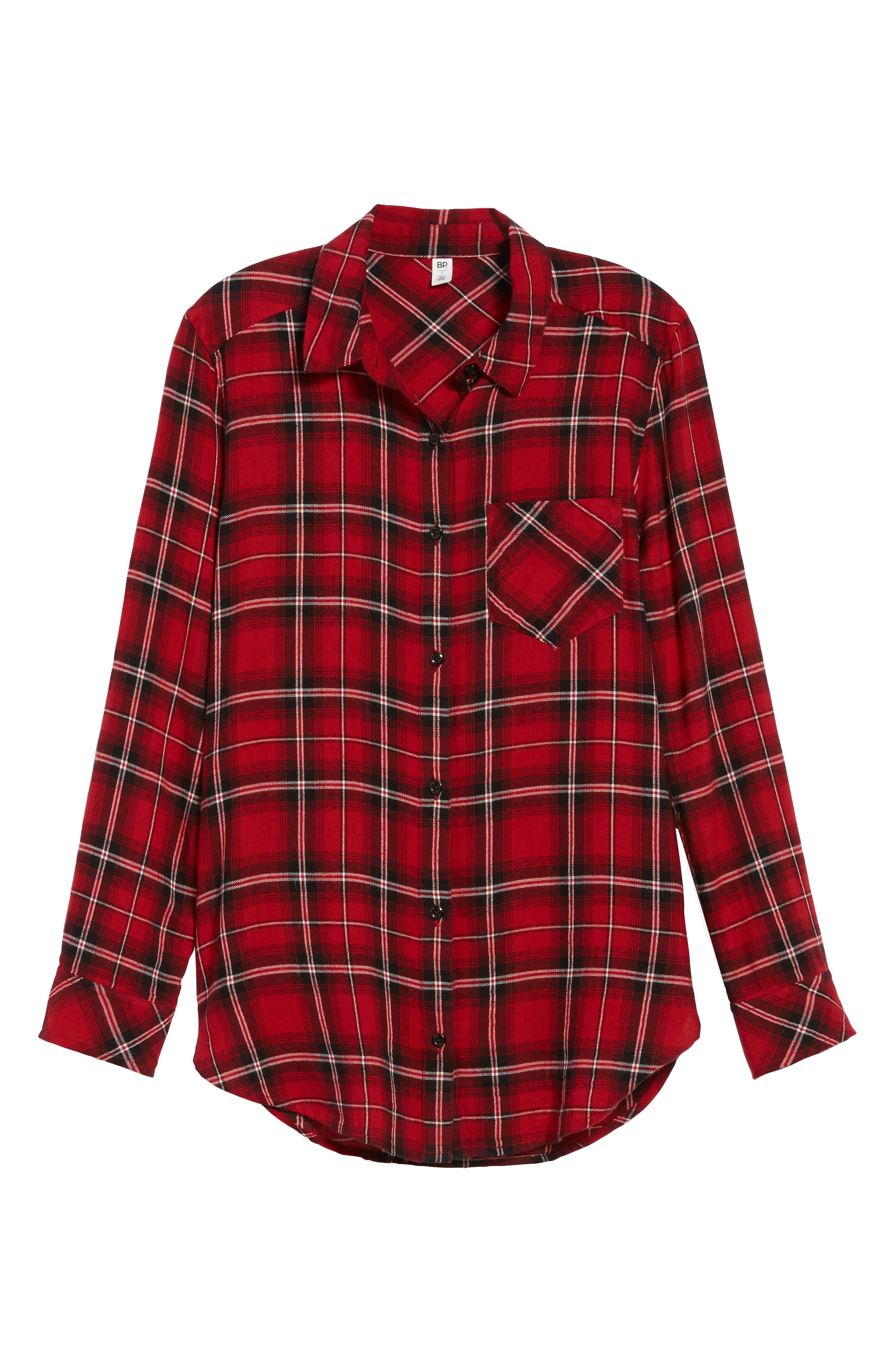 Plaid Cotton Blend Shirt,                             Alternate thumbnail 29, color,