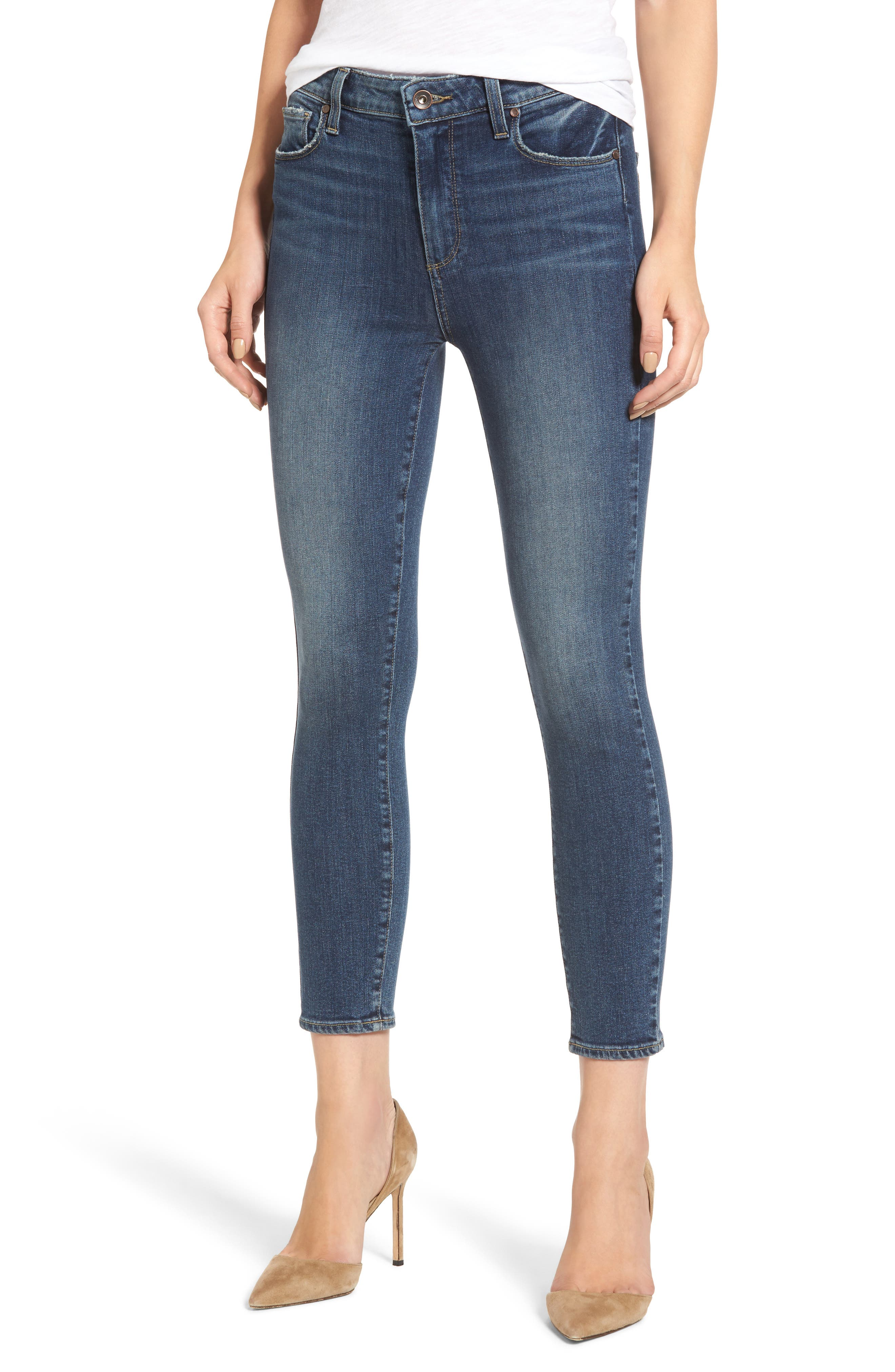 Hoxton High Waist Crop Skinny Jeans,                         Main,                         color, 400