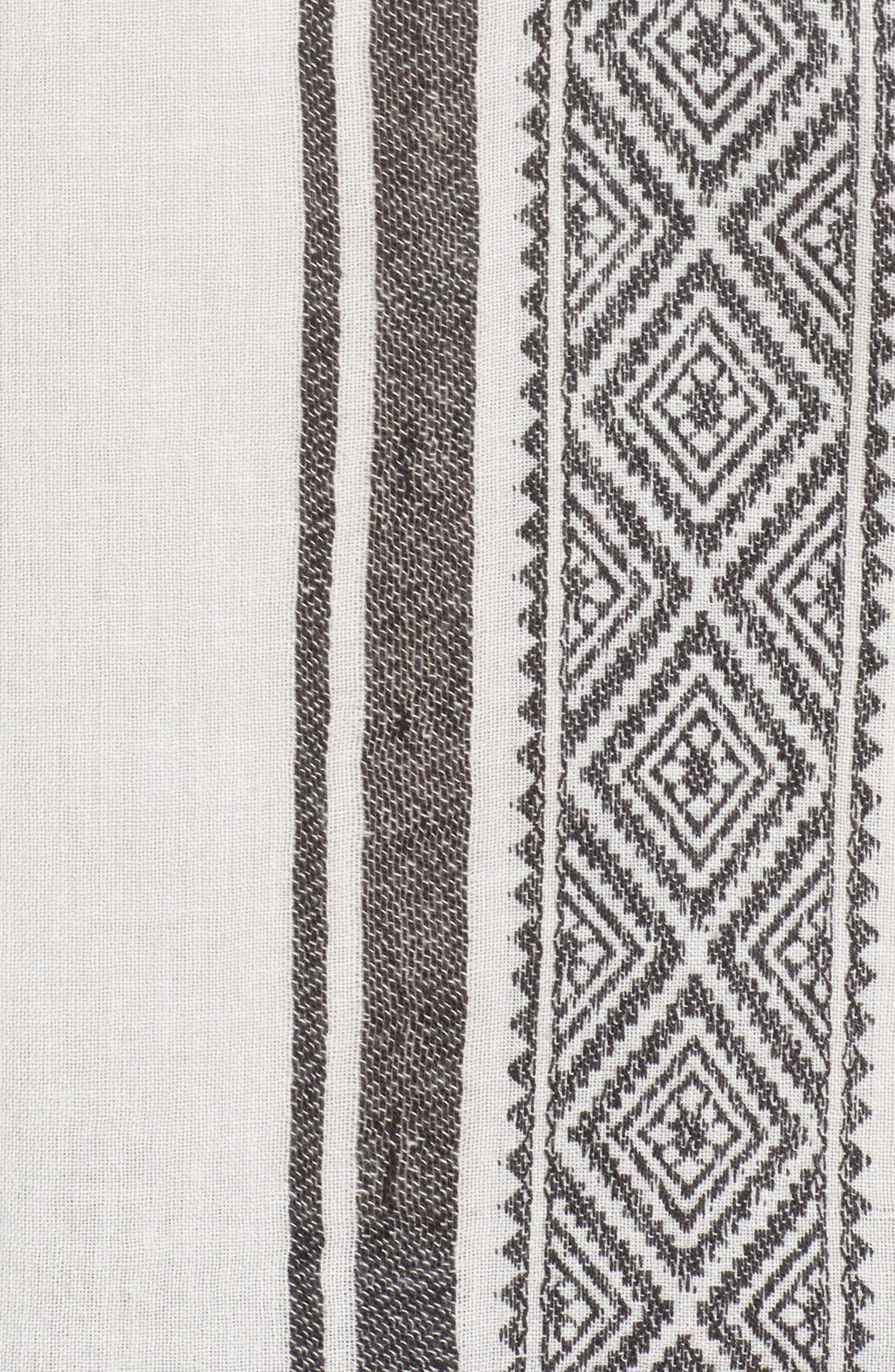 Jacquard Stripe Peasant Blouse,                             Alternate thumbnail 11, color,