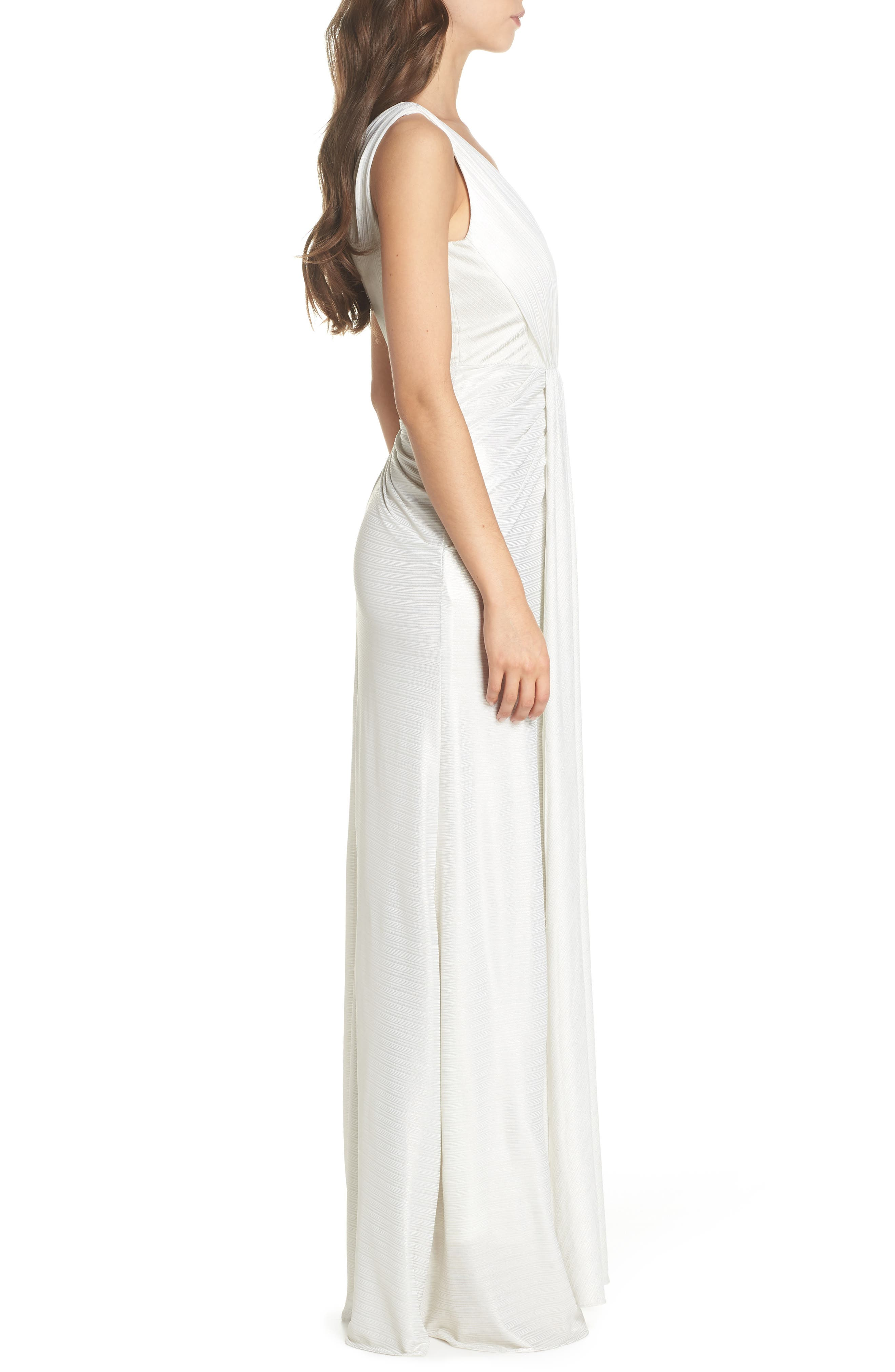 Ruched Gown,                             Alternate thumbnail 3, color,                             900